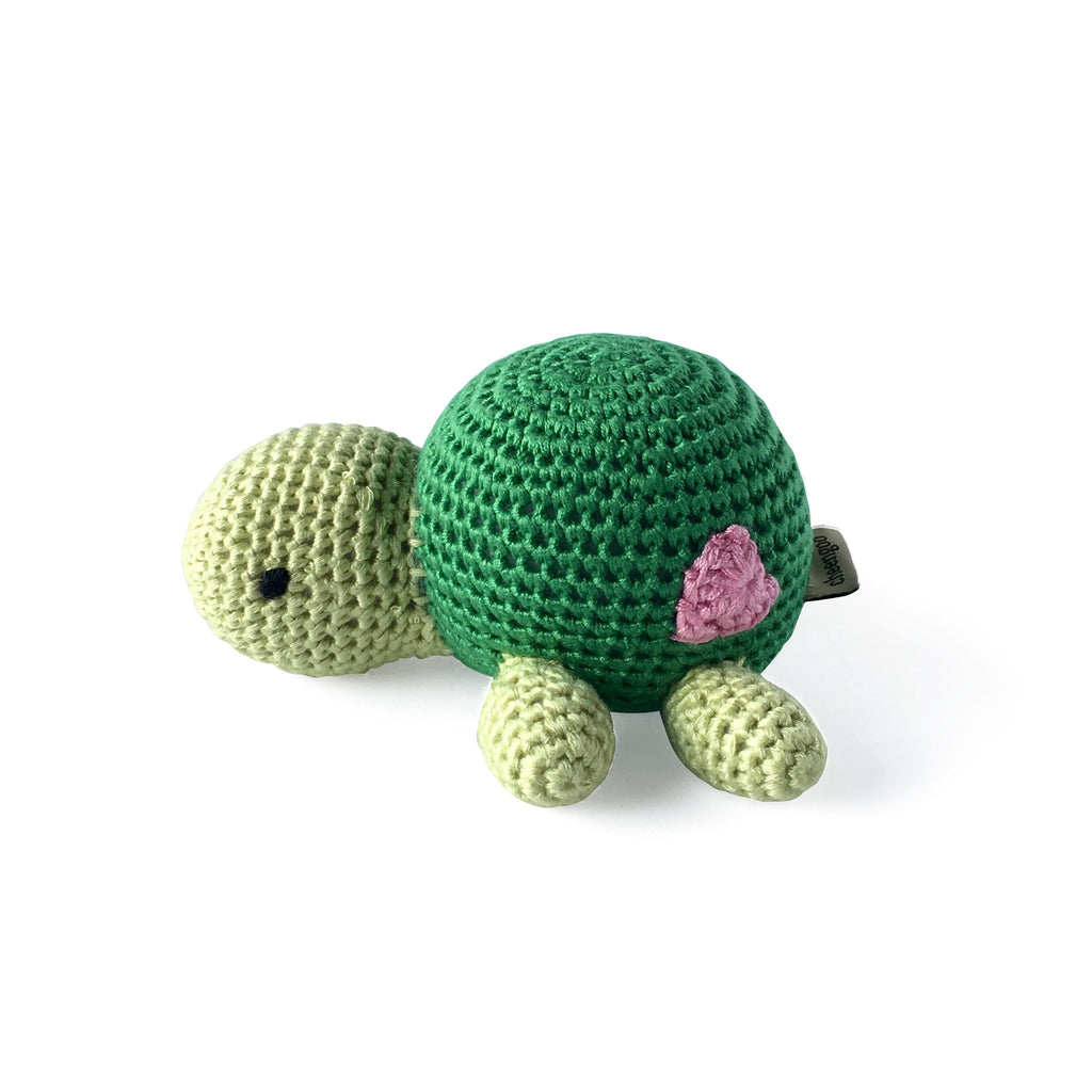 I AM BCO Conscious Lifestyle Turtle Rattle 100 percent Bamboo Eco-Friendly, Ethical products.