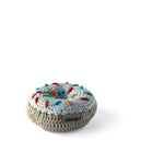I AM BCO conscious Lifestyle Crotchet Vanilla Donut Rattle Cheengoo Ethical and eco friendly Bamboo