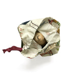I AM BCO This Peep Draw Bag is versatile and can be used for storing many things including some of our wooden toys  Finish: Cotton | Nylon Cord Colour: Woodland Berry + Olive | Paint Stroke Berry + Olive Size: 30cm x 32cm
