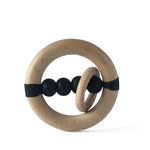 I AM BCO Rattle & Teether Natural BPA / lead / mercury free Untreated timber