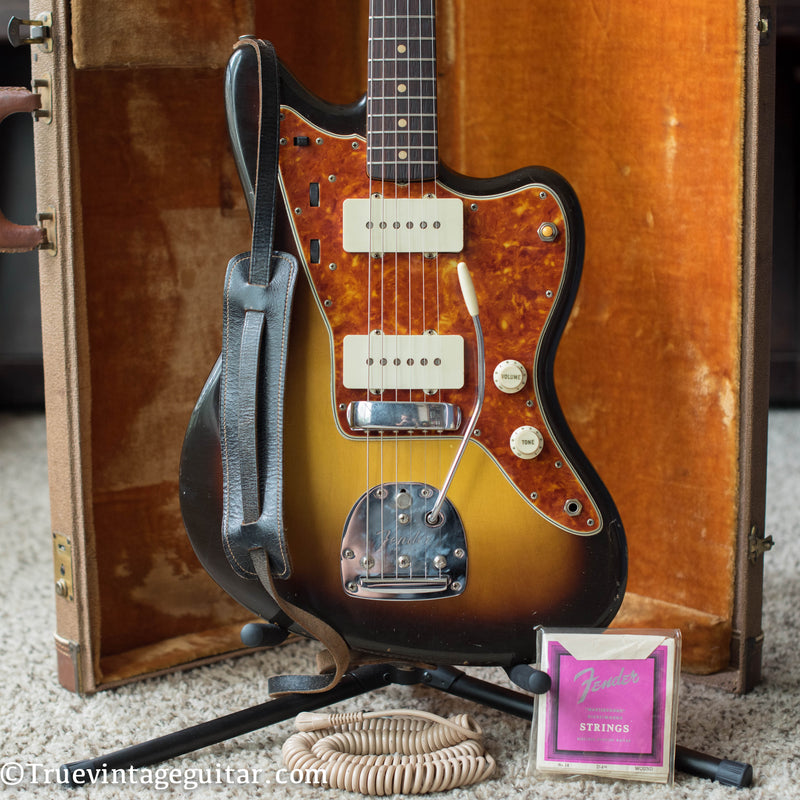 Vintage 1960 and 1961 Fender Jazzmaster electric guitars