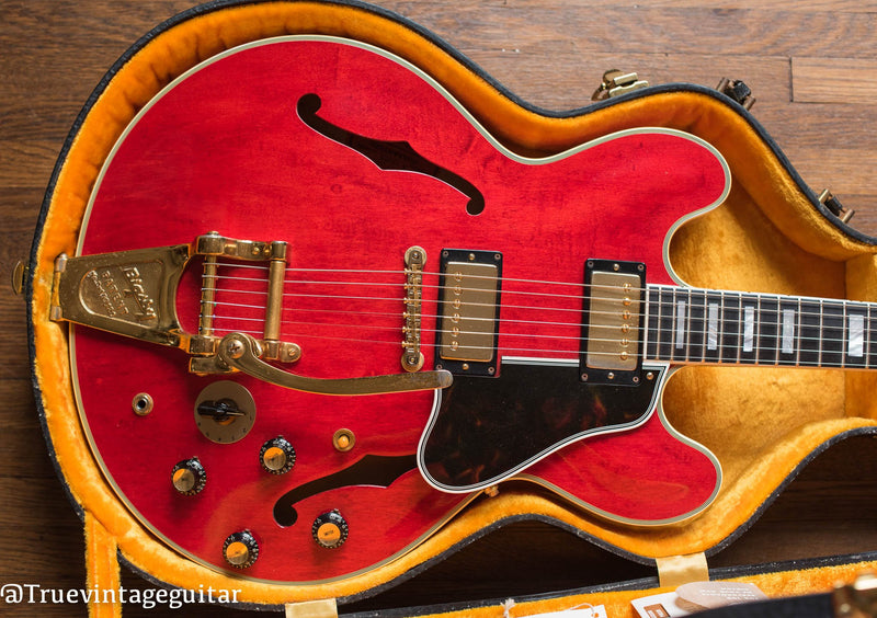 Vintage 1960 Gibson ES-355 cherry red electric guitar