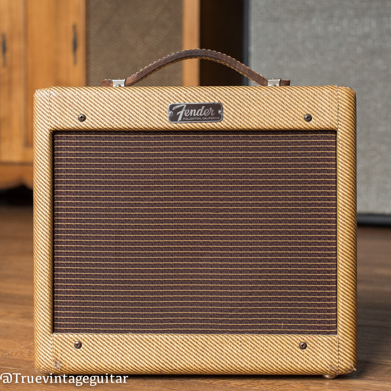 Vintage 1963 Fender Champ guitar amplifier tweed