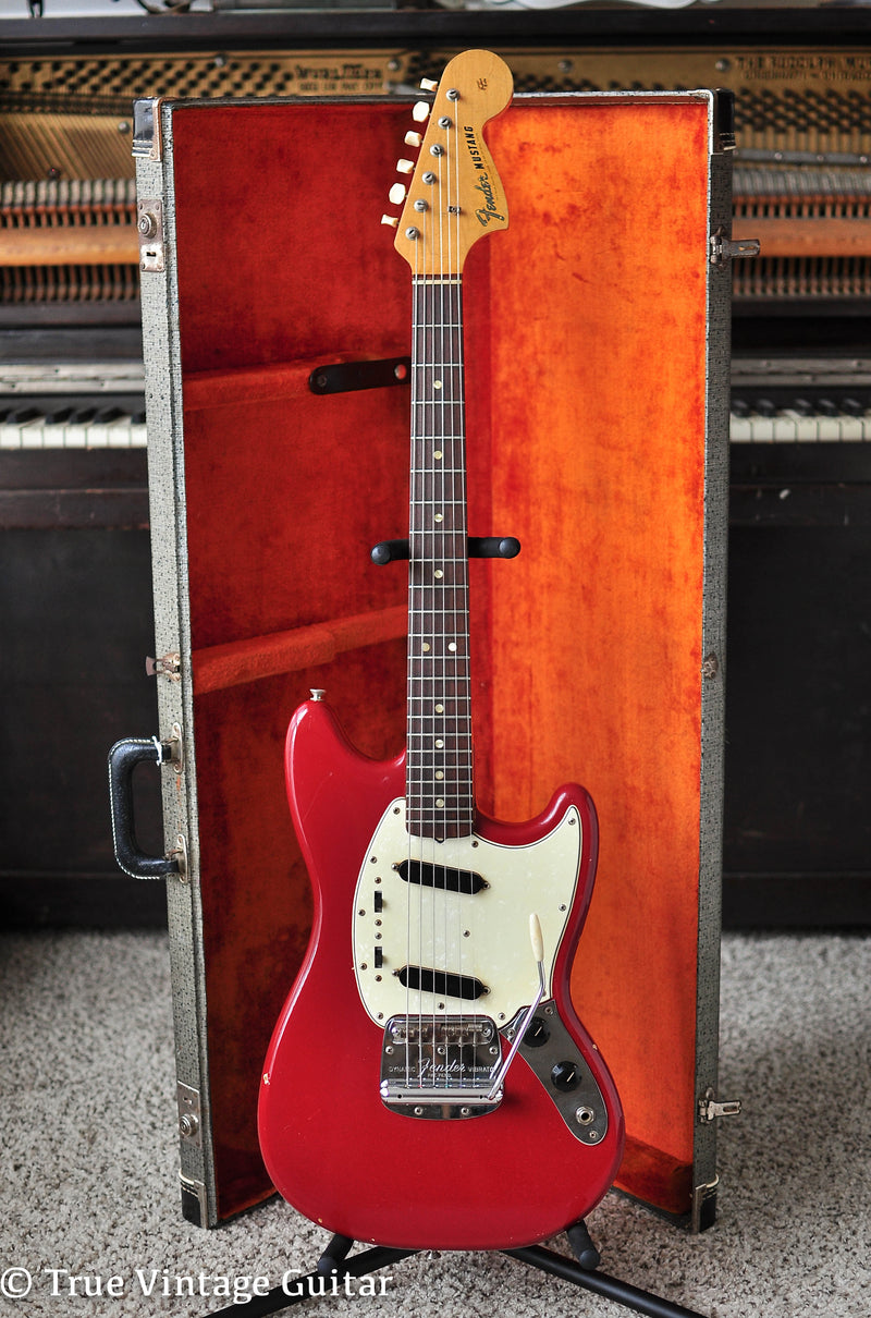 Vintage 1966 Fender Mustang Red guitar