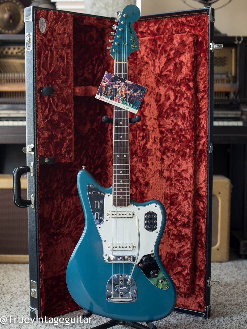 Vintage 1966 Fender Jaguar Lake Placid Blue Metallic electric guitar