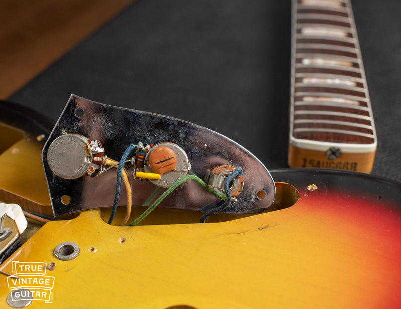 Have a look inside this 1966 Fender Jaguar original sunburst finish