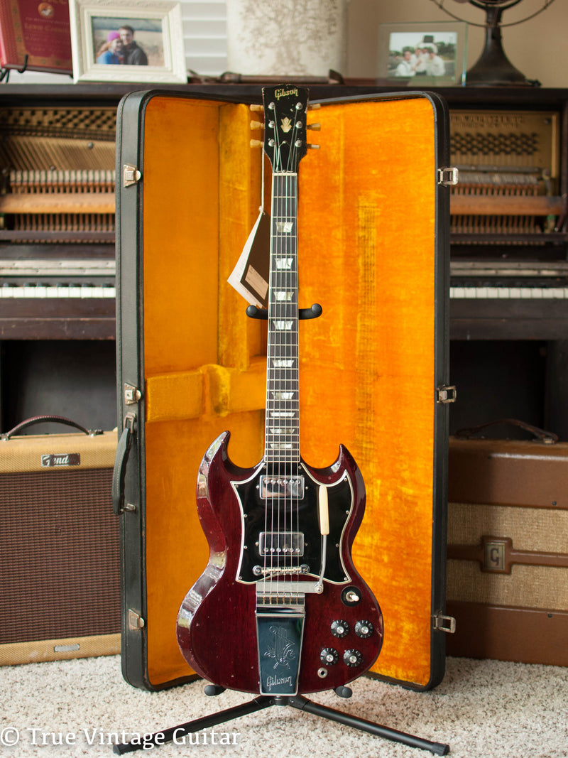 Vintage Gibson SG Standard 1967 electric guitar Cherry Red