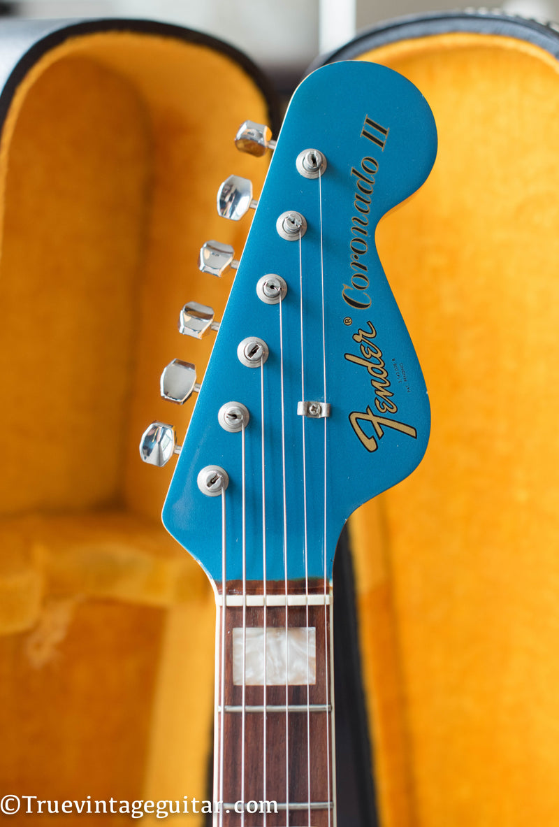 1967 Fender Coronado II Lake Placid Blue matching headstock