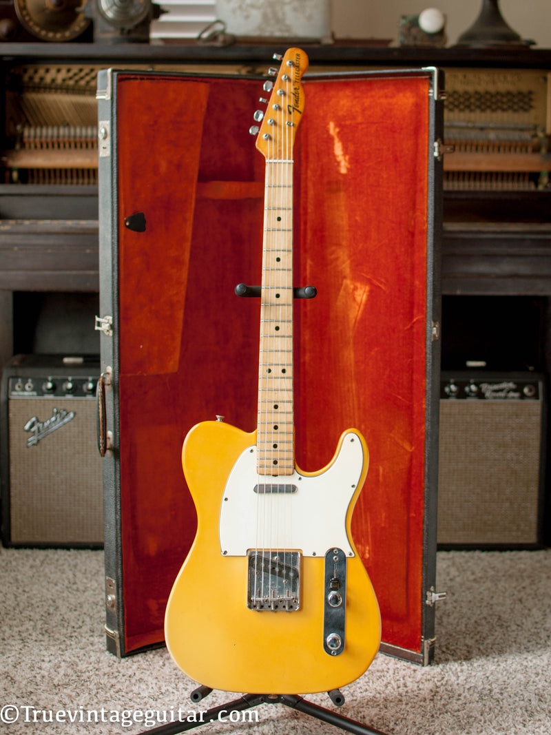 Vintage 1969 Fender Telecaster yellow Olympic White electric guitar