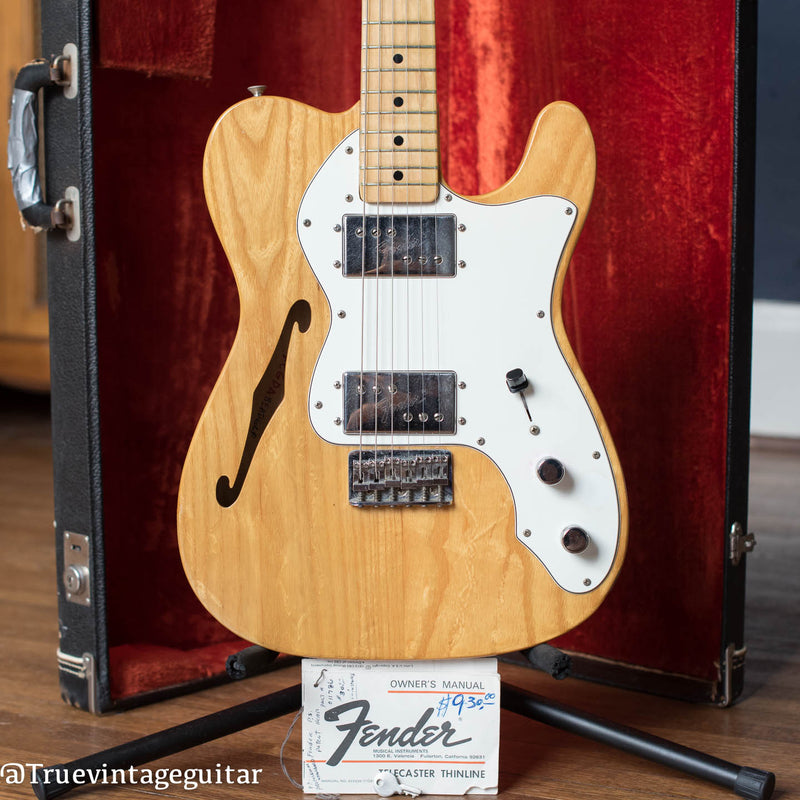 Fender Telecaster Thinline electric guitar with F hole