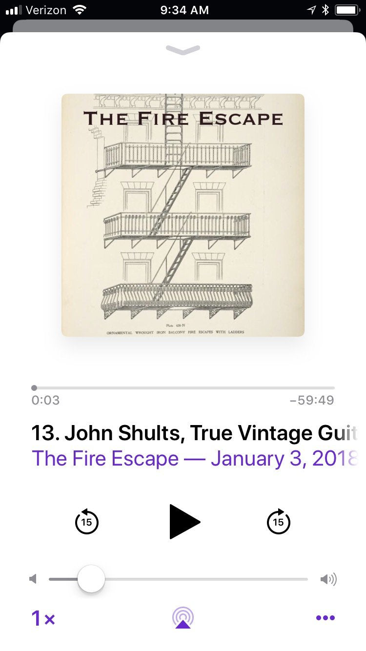 True Vintage Guitar on The Fire Escape Podcast!