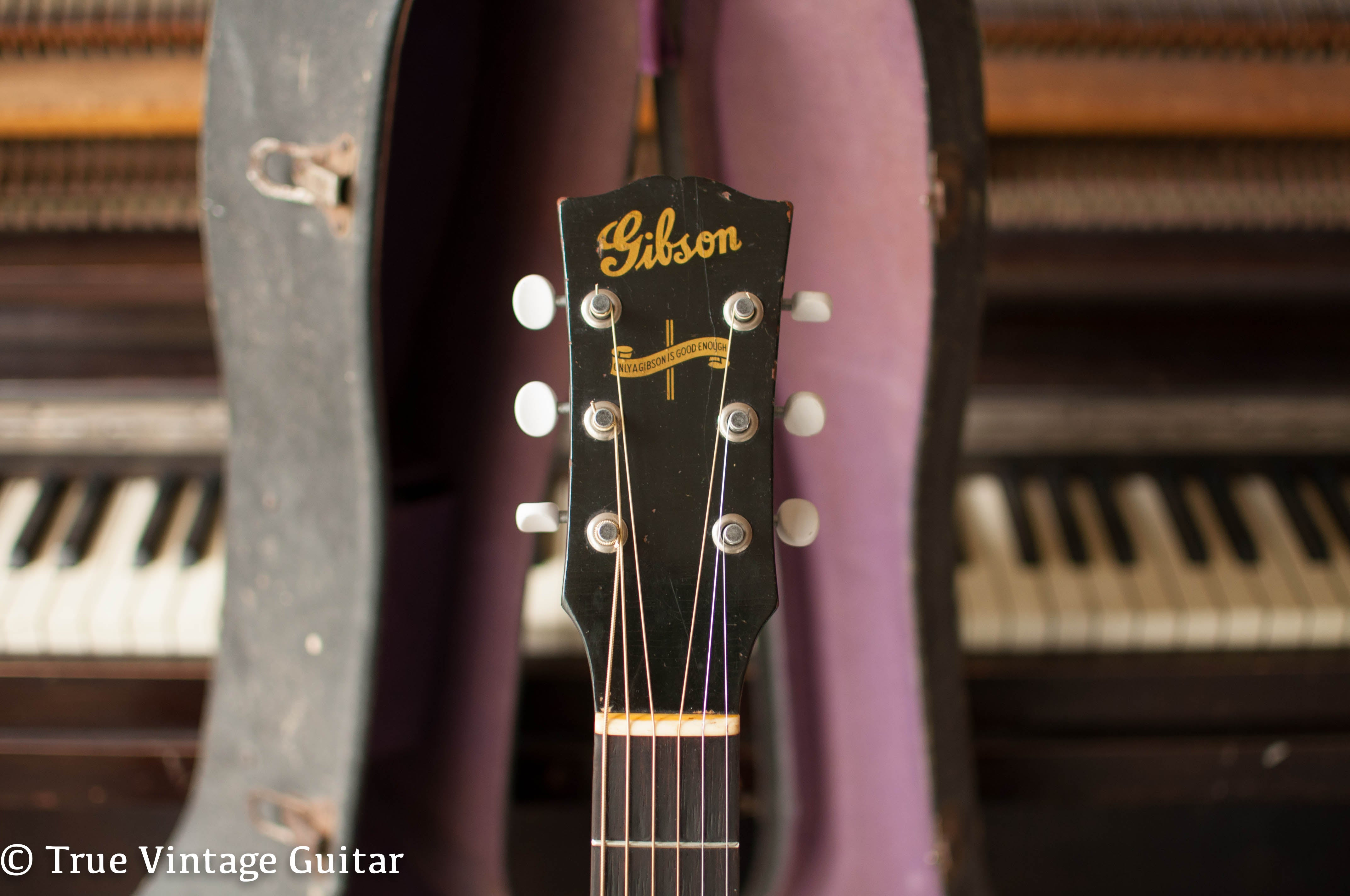 Banner Gibson headstock, Only a Gibson is good enough, J-45 guitar