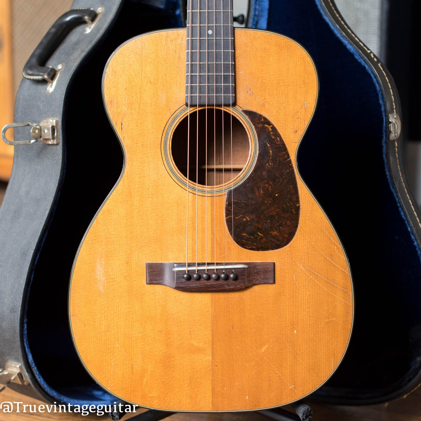 Vintage Martin small body acoustic guitar 1940s