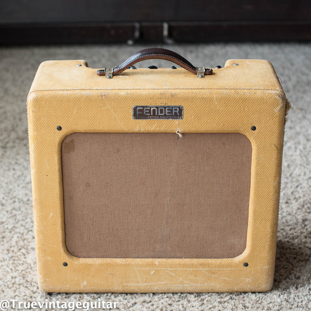 1950 Fender Deluxe Amp tweed vintage guitar amplifier