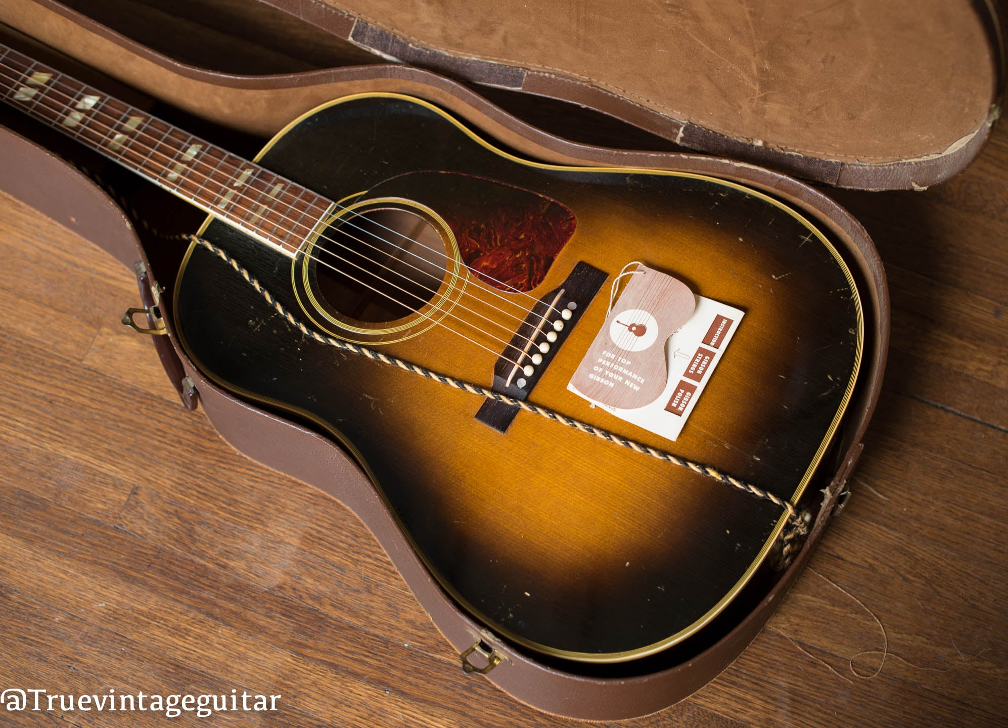 Vintage Gibson SJ acoustic guitar 1950s