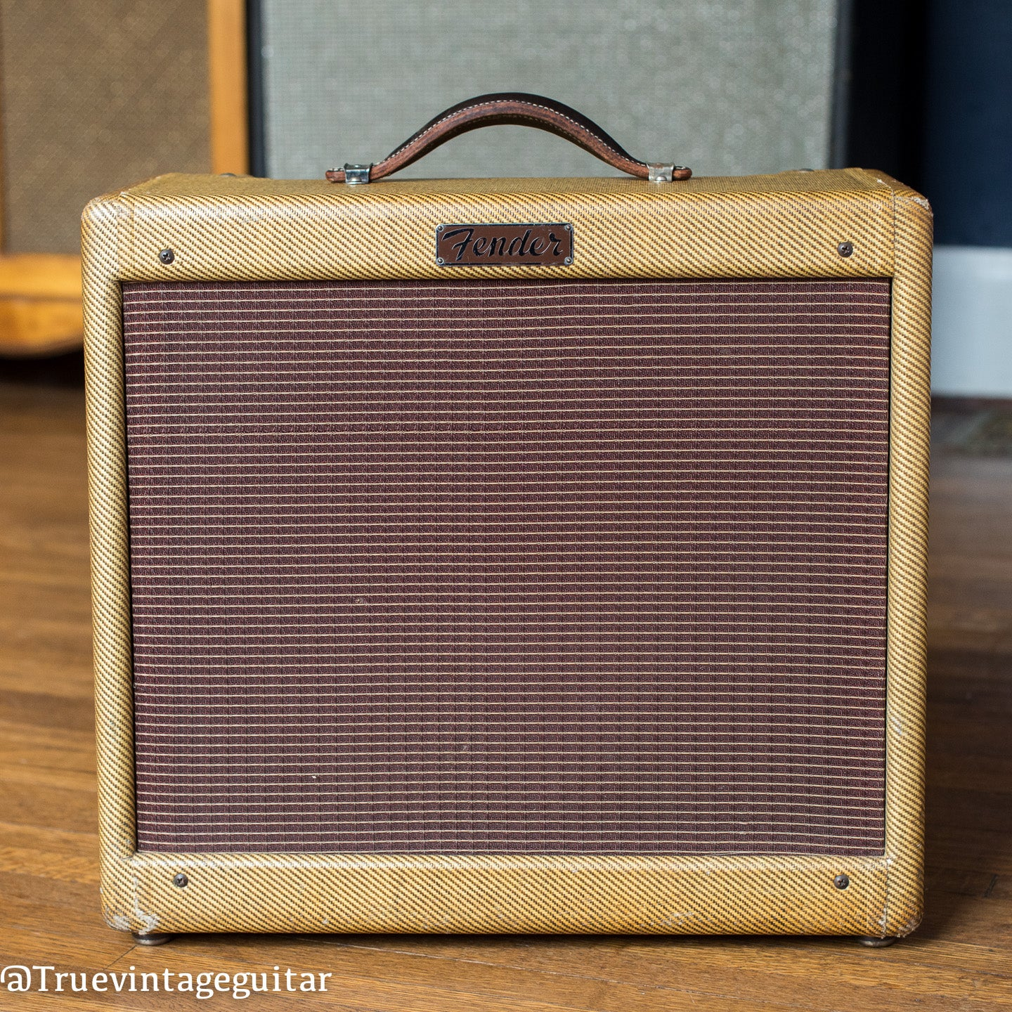 Vintage 1955 Fender Deluxe guitar amp tweed