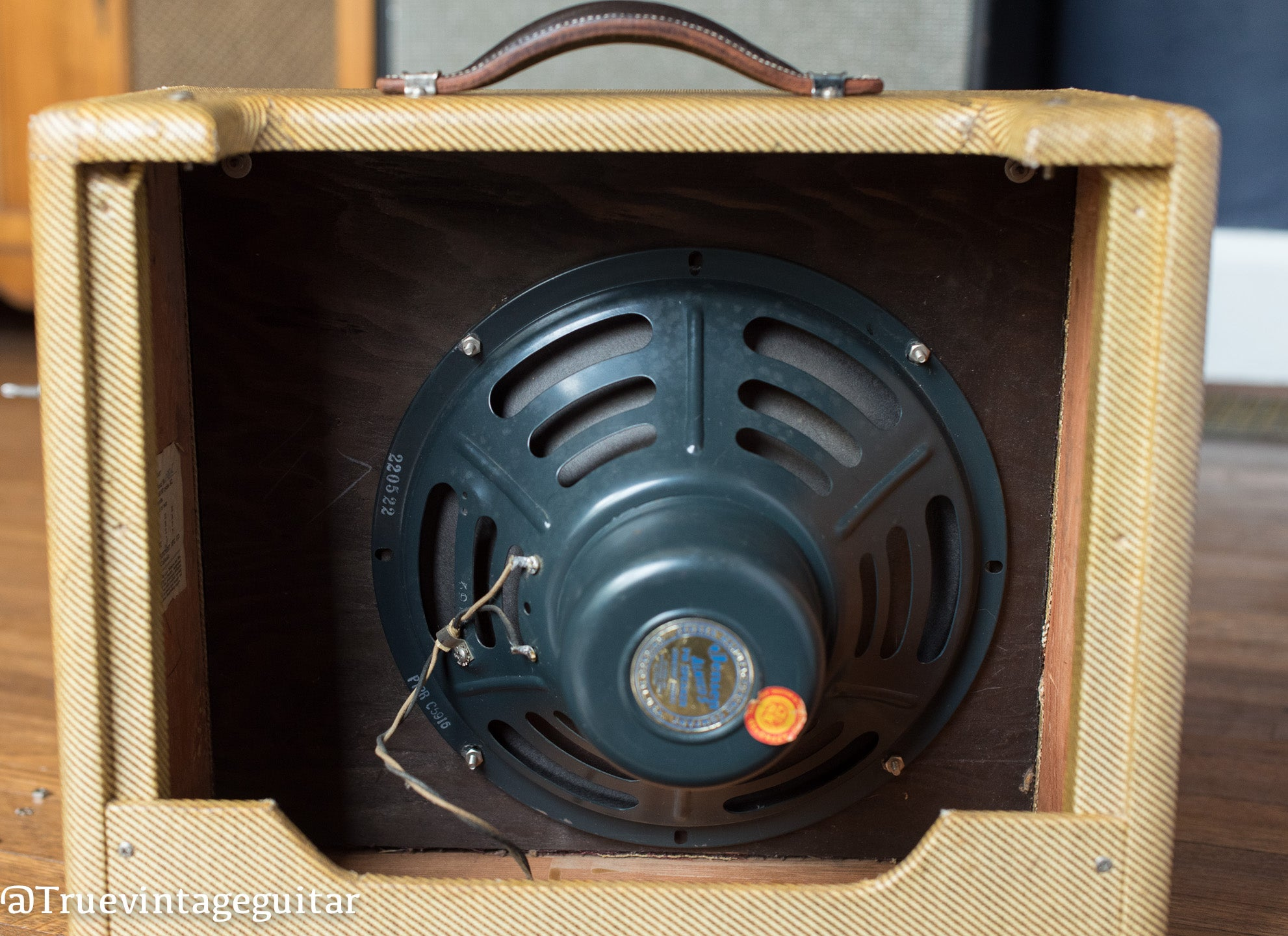 Jensen P12R speaker, 1955 Fender tweed Deluxe