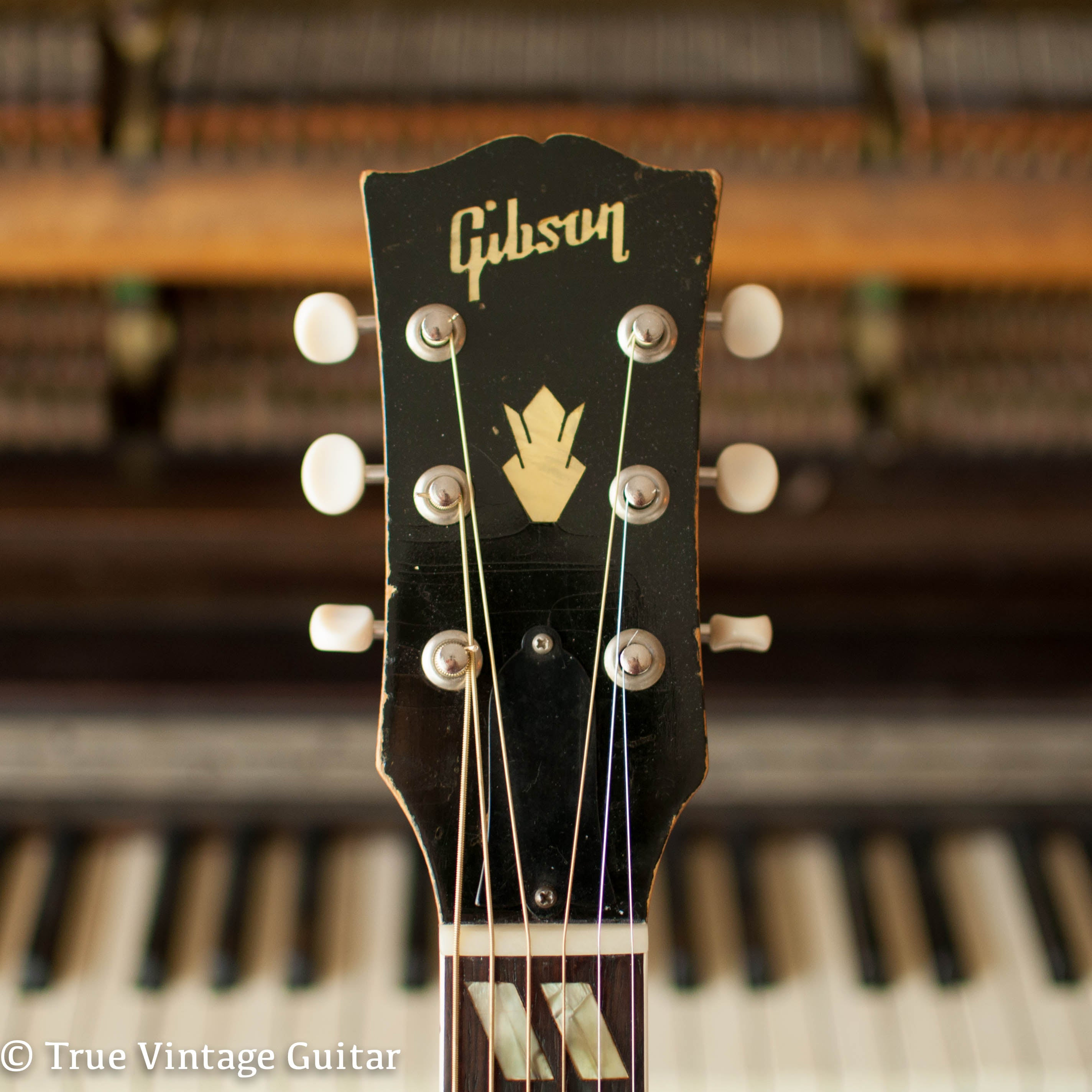 Gibson headstock pearl inlay 1957 Country Western