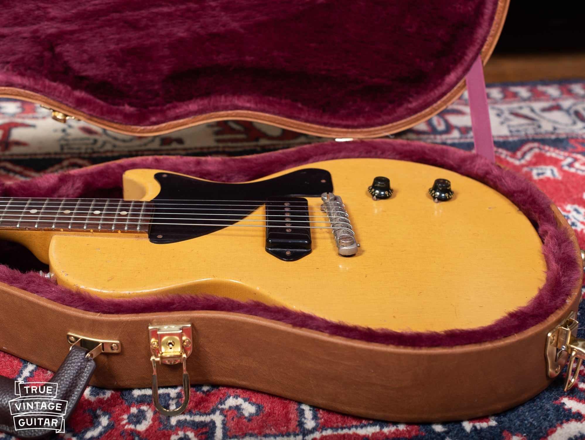 Vintage 1950s Gibson Les Paul yellow