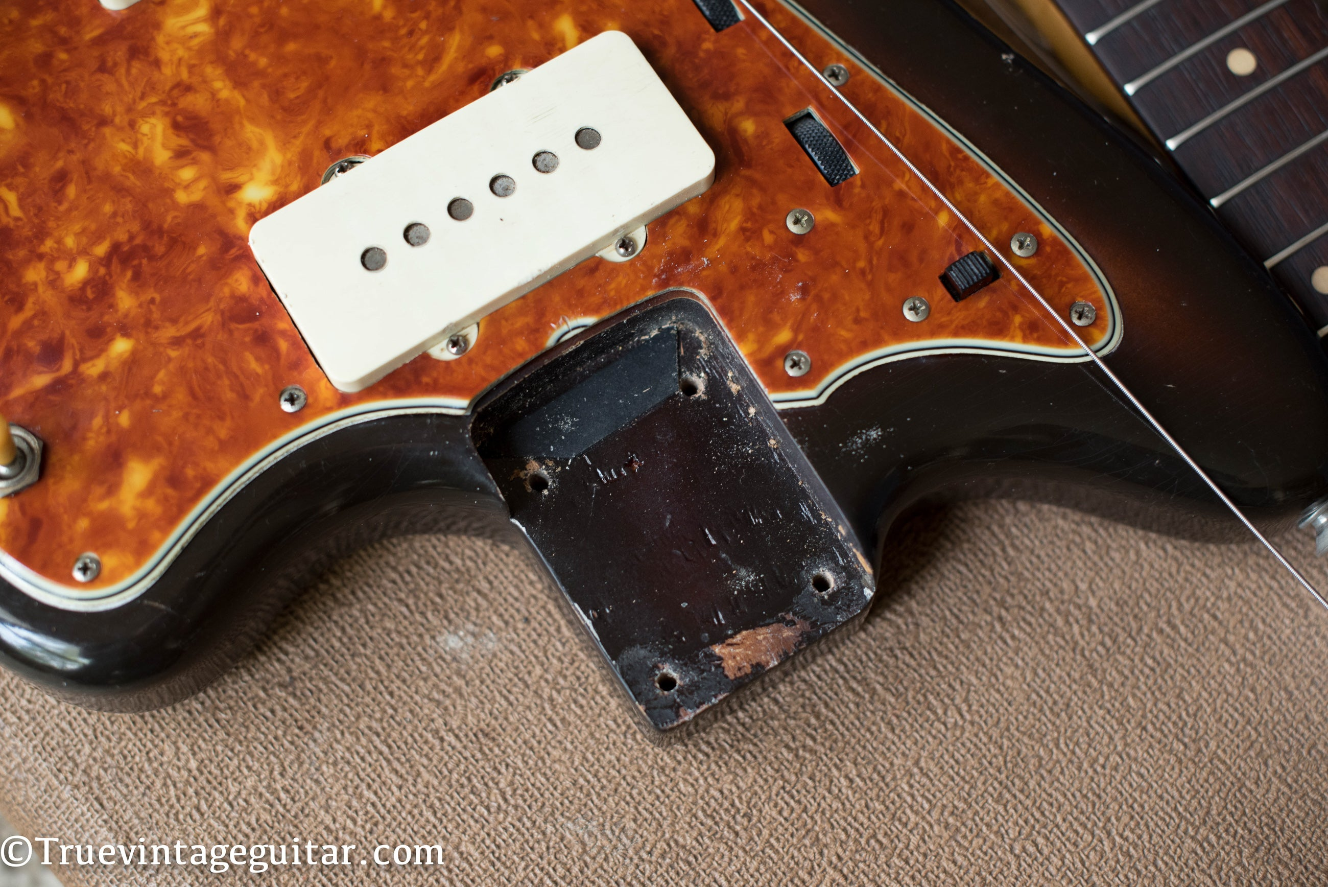 Neck pocket, 1960 Fender Jazzmaster