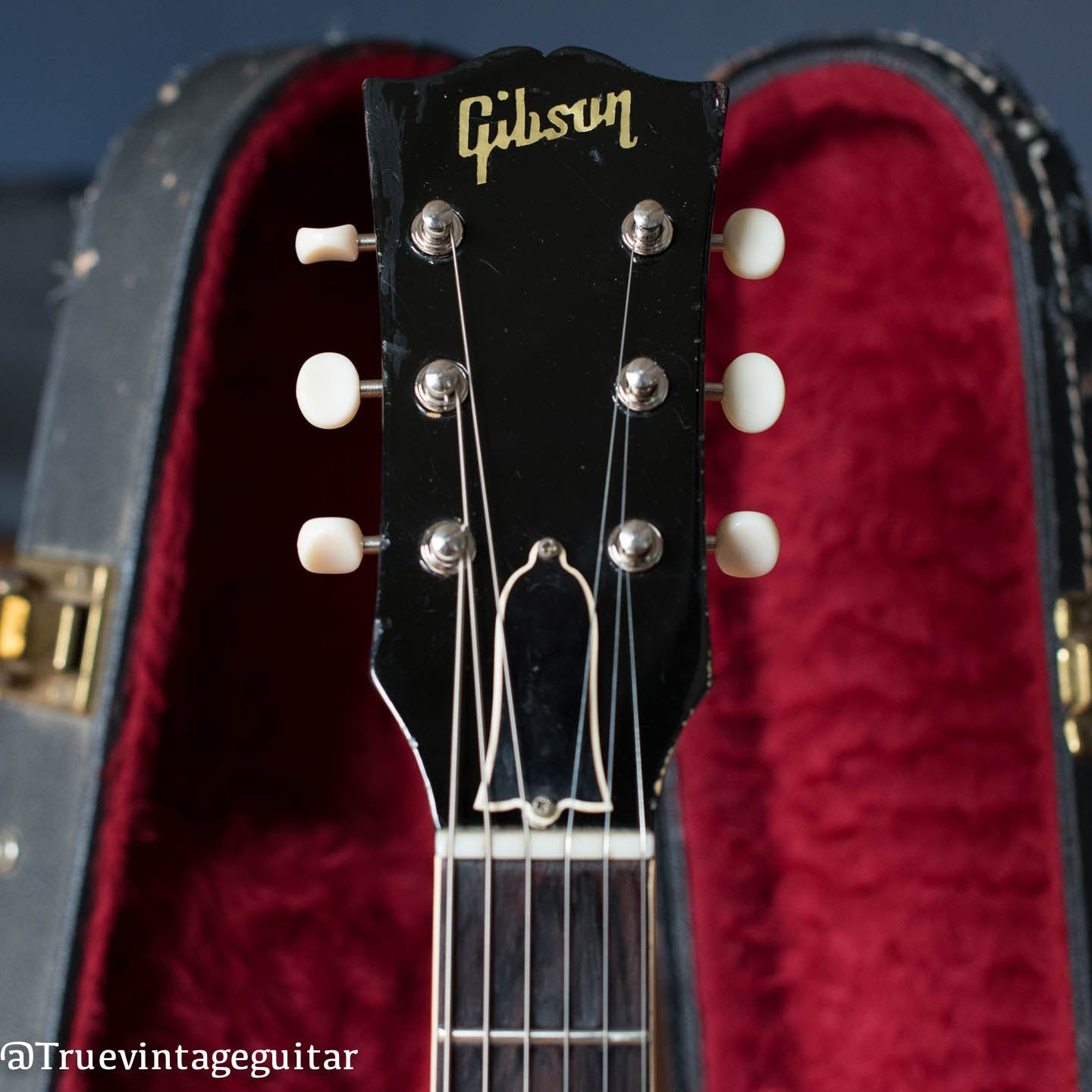 vintage Gibson headstock 1960 ES-330 pearl inlay