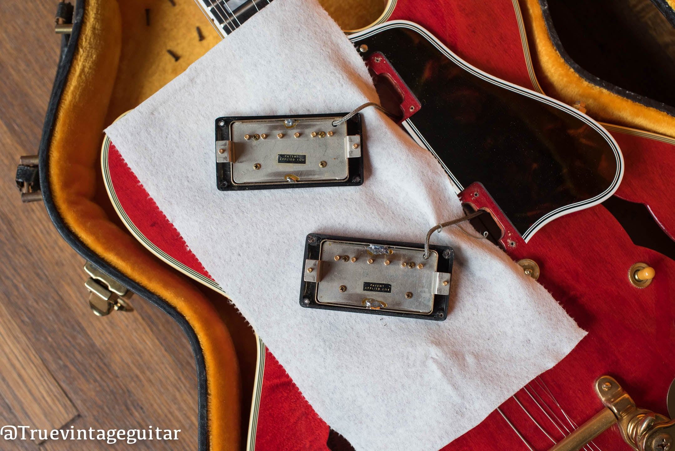 1960 Gibson ES-355 TDSV original Patent Applied For Humbucking pickups, PAF pickups