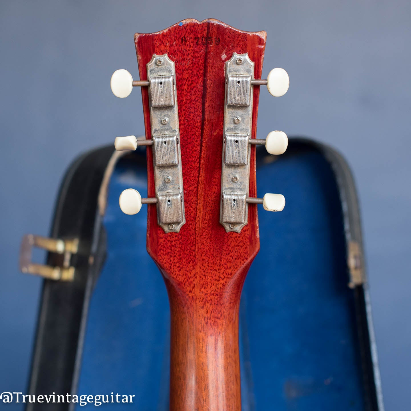 Gibson headstock, Les Paul Jr, Cherry red, 1960