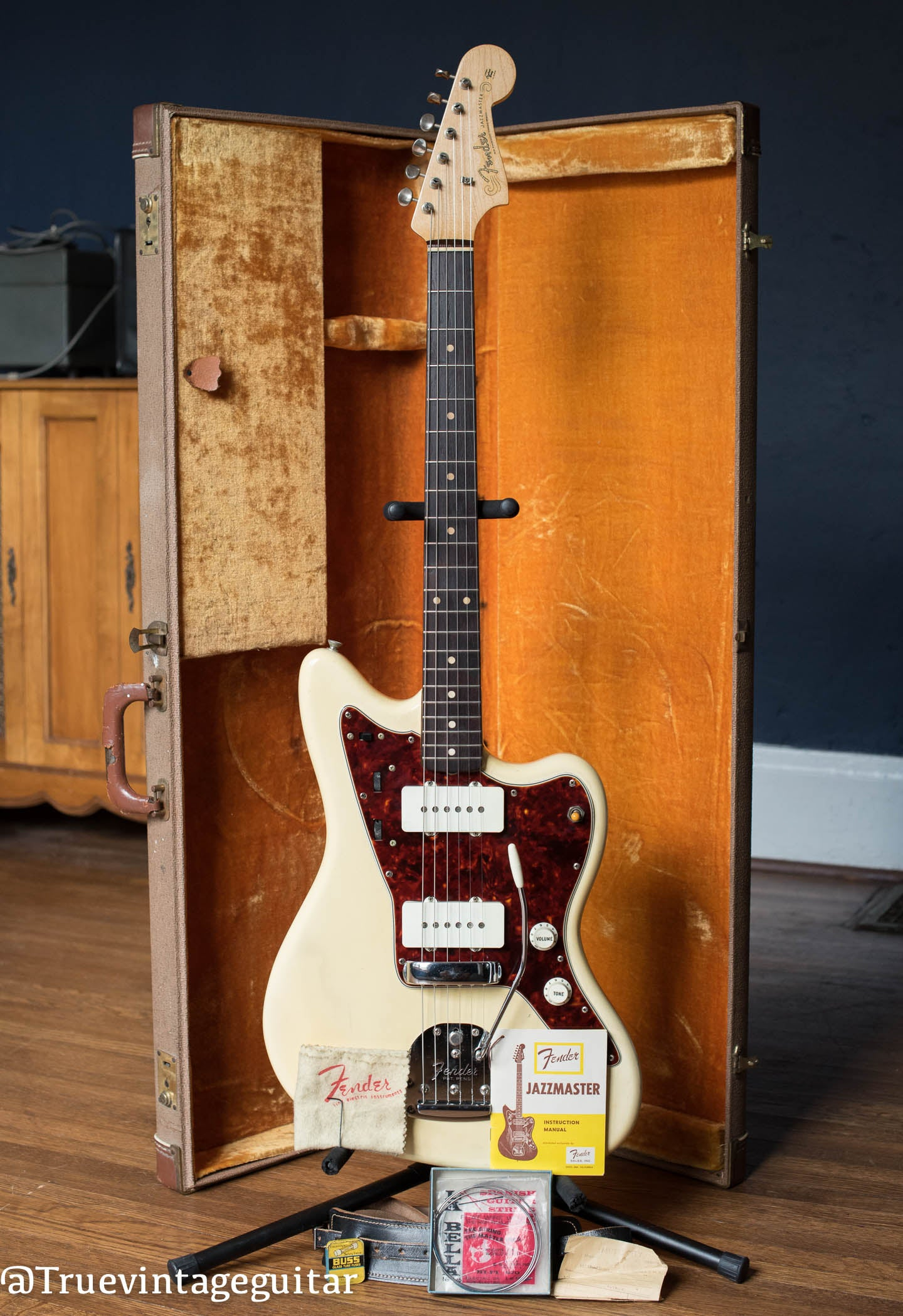 1961 Fender Jazzmaster Blond finish over Ash body with tags