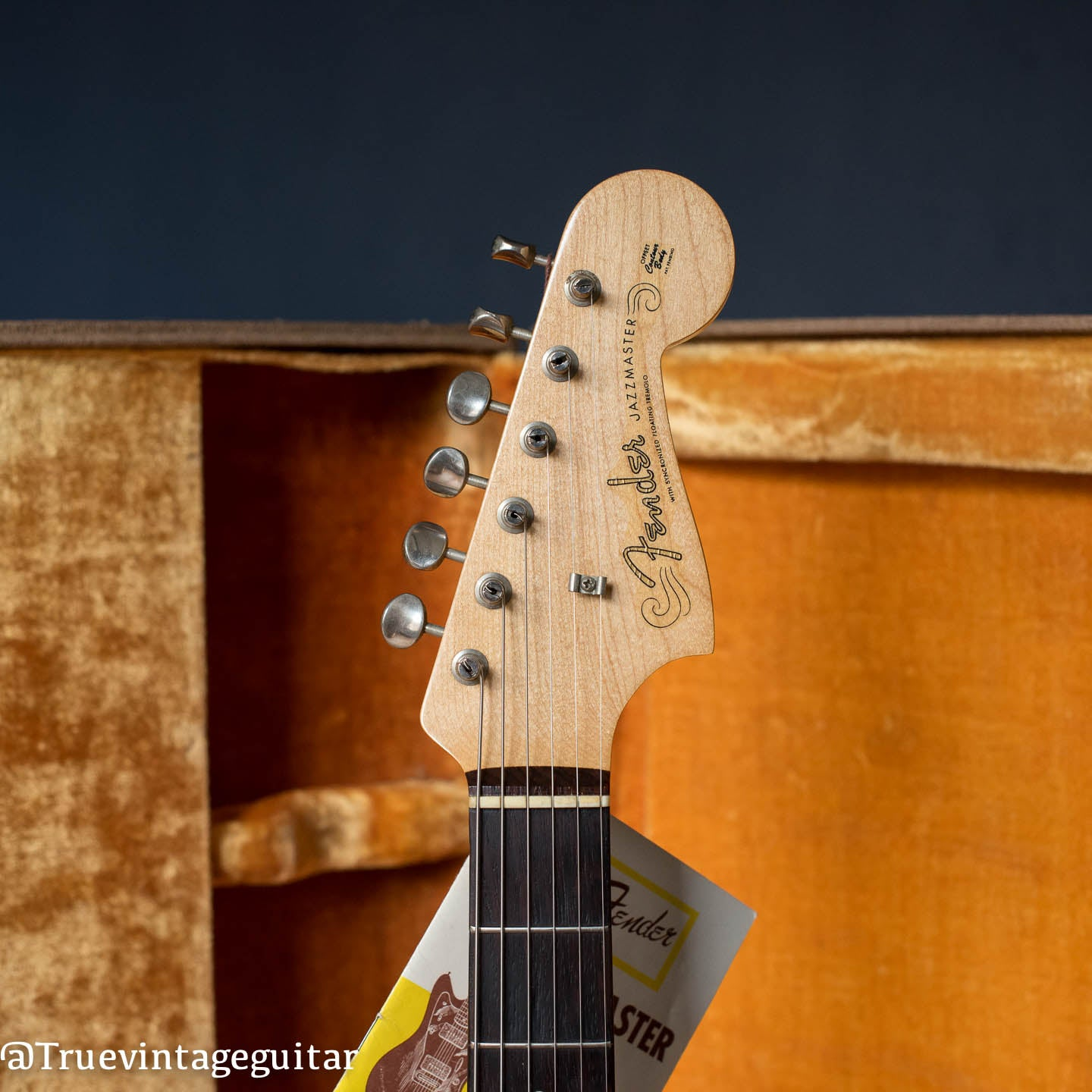 1961 Fender Jazzmaster Blond finish, headstock