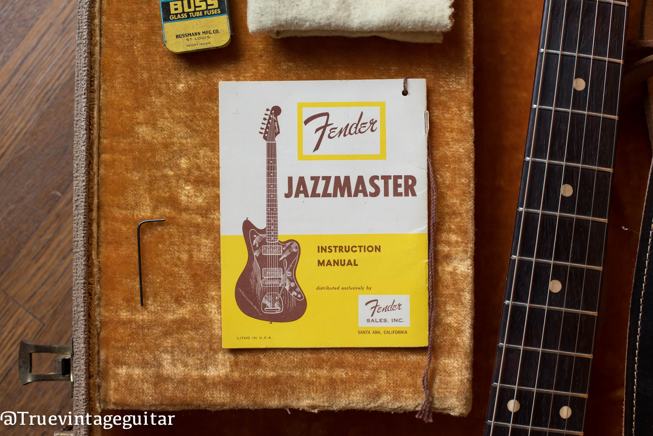 1961 Fender Jazzmaster Guitar hang tag