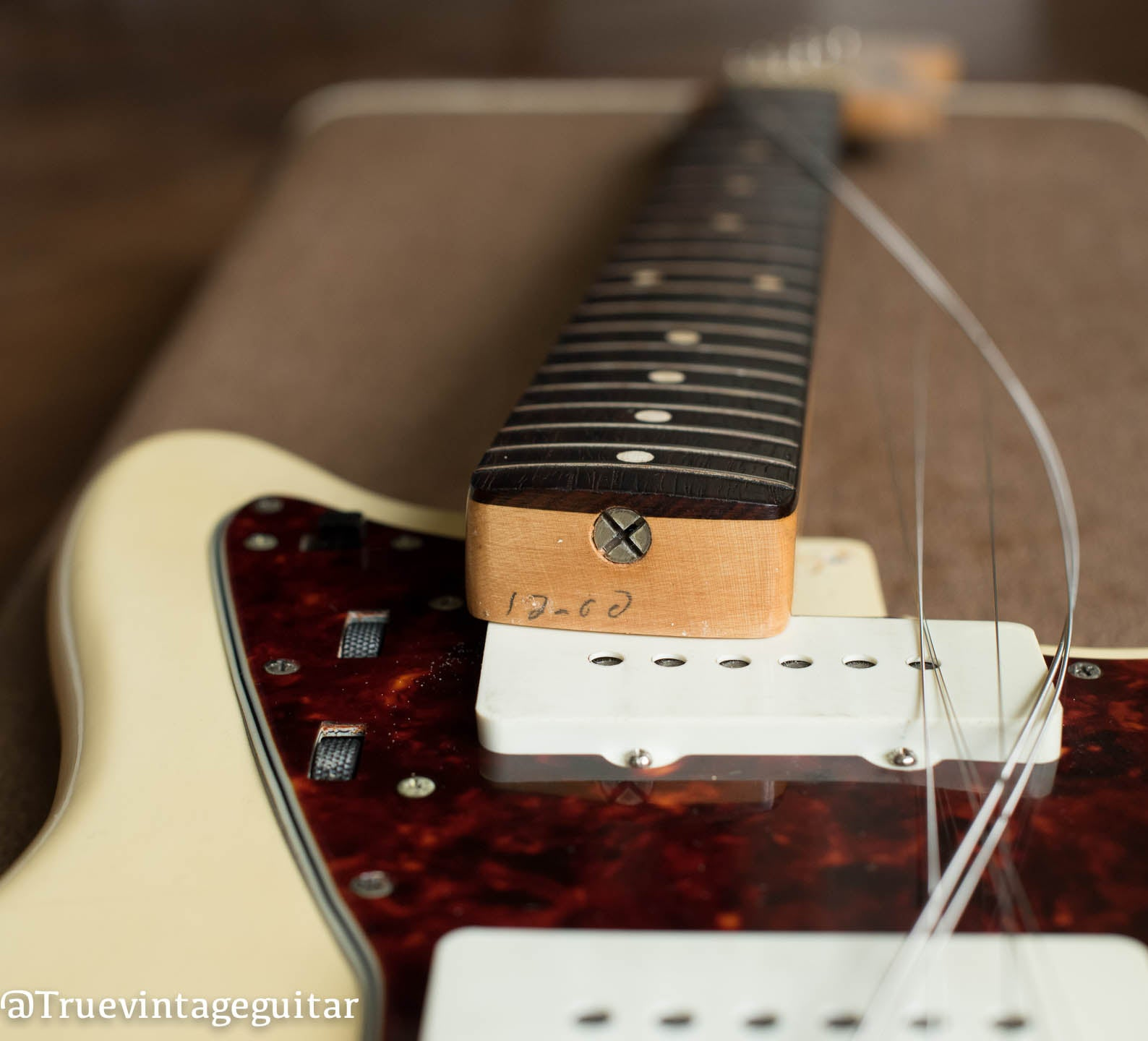 1961 Fender Jazzmaster Guitar, Blond finish over Ash body, neck pencil date 12/60