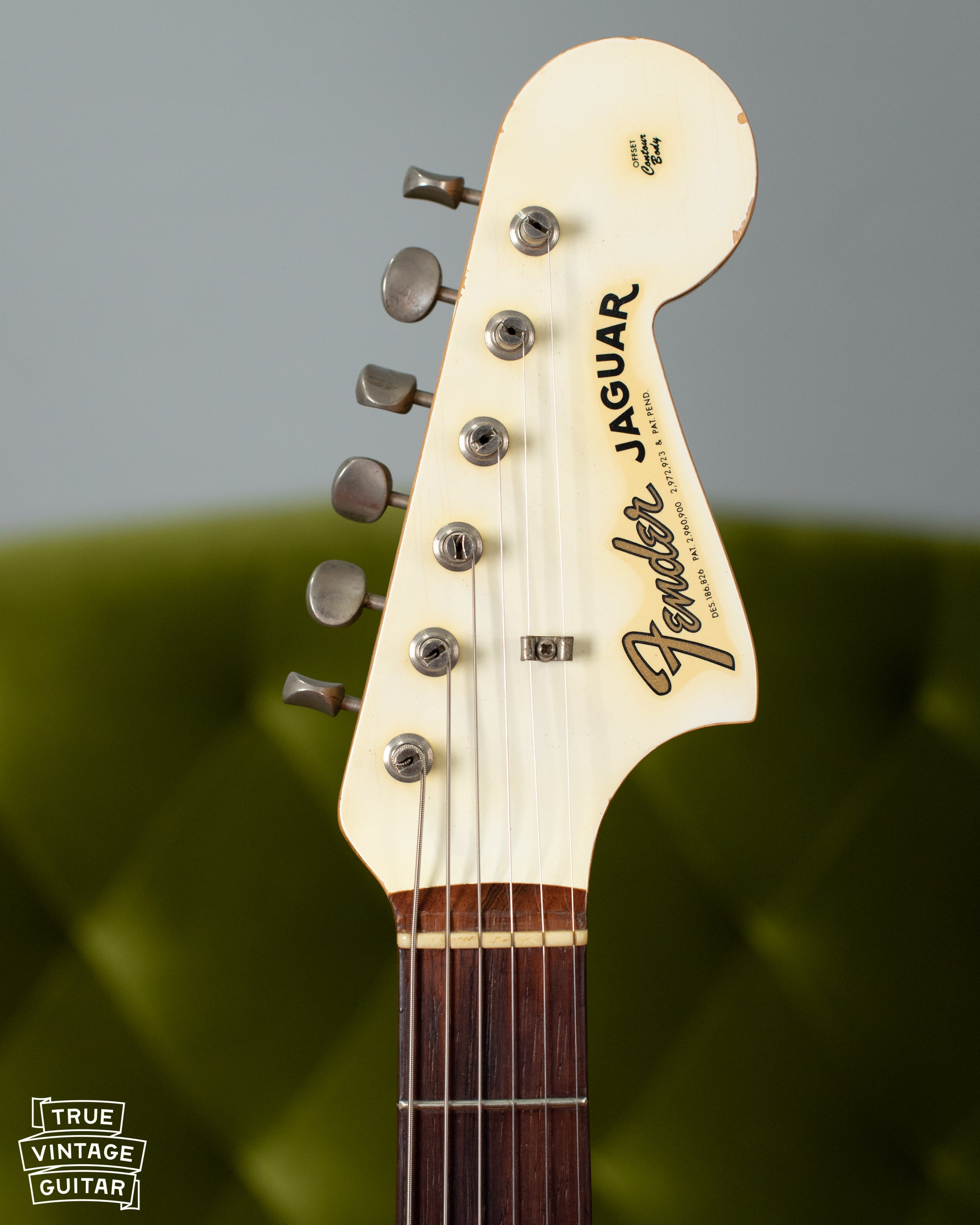 1962 Fender Jaguar Olympic White matching headstock