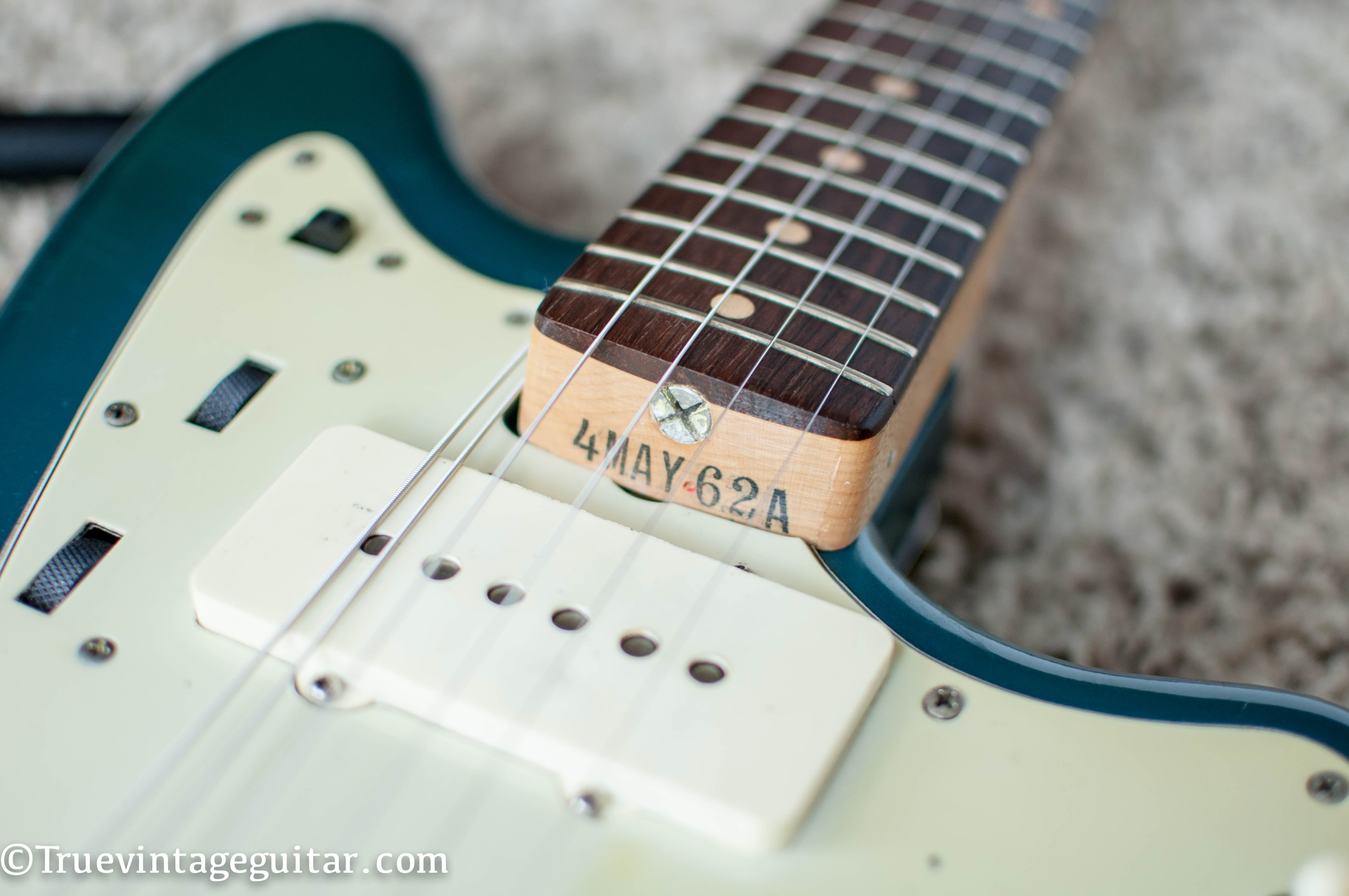 Fender guitar neck date stamp