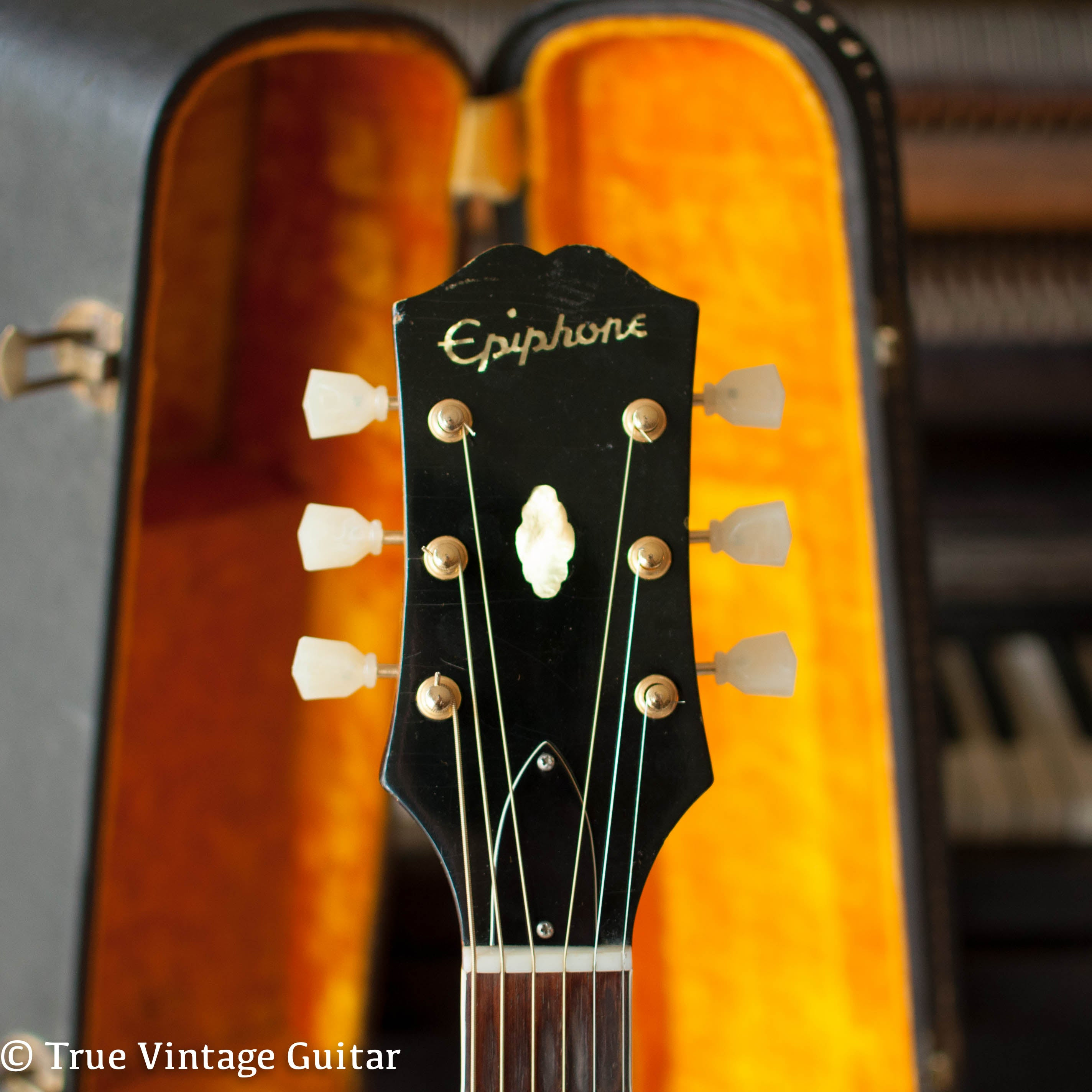 Short headstock, Vintage 1963 Epiphone FT-110 Frontier acoustic guitar, engraved cactus lariat pickguard