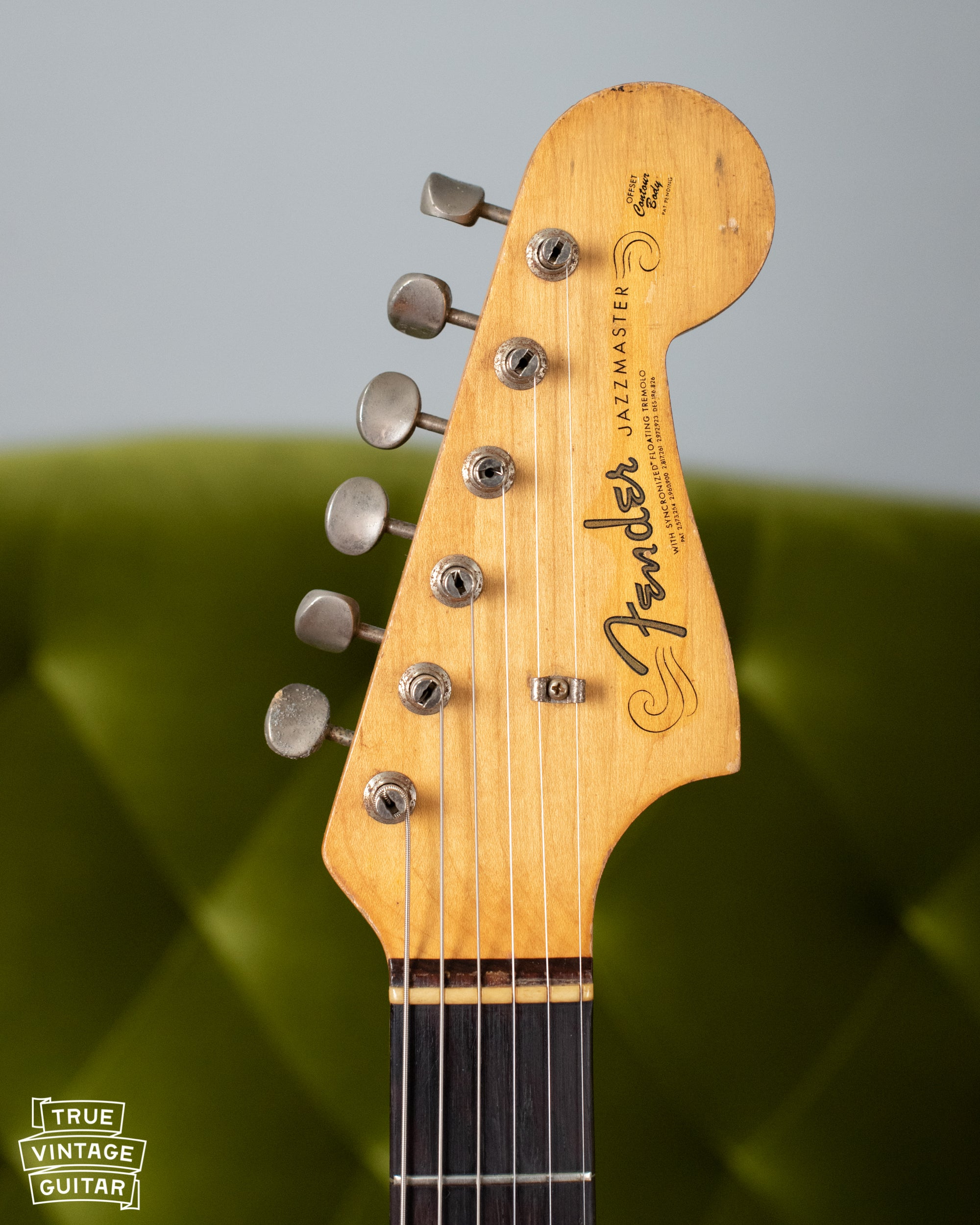 1963 Fender Jazzmaster neck headstock