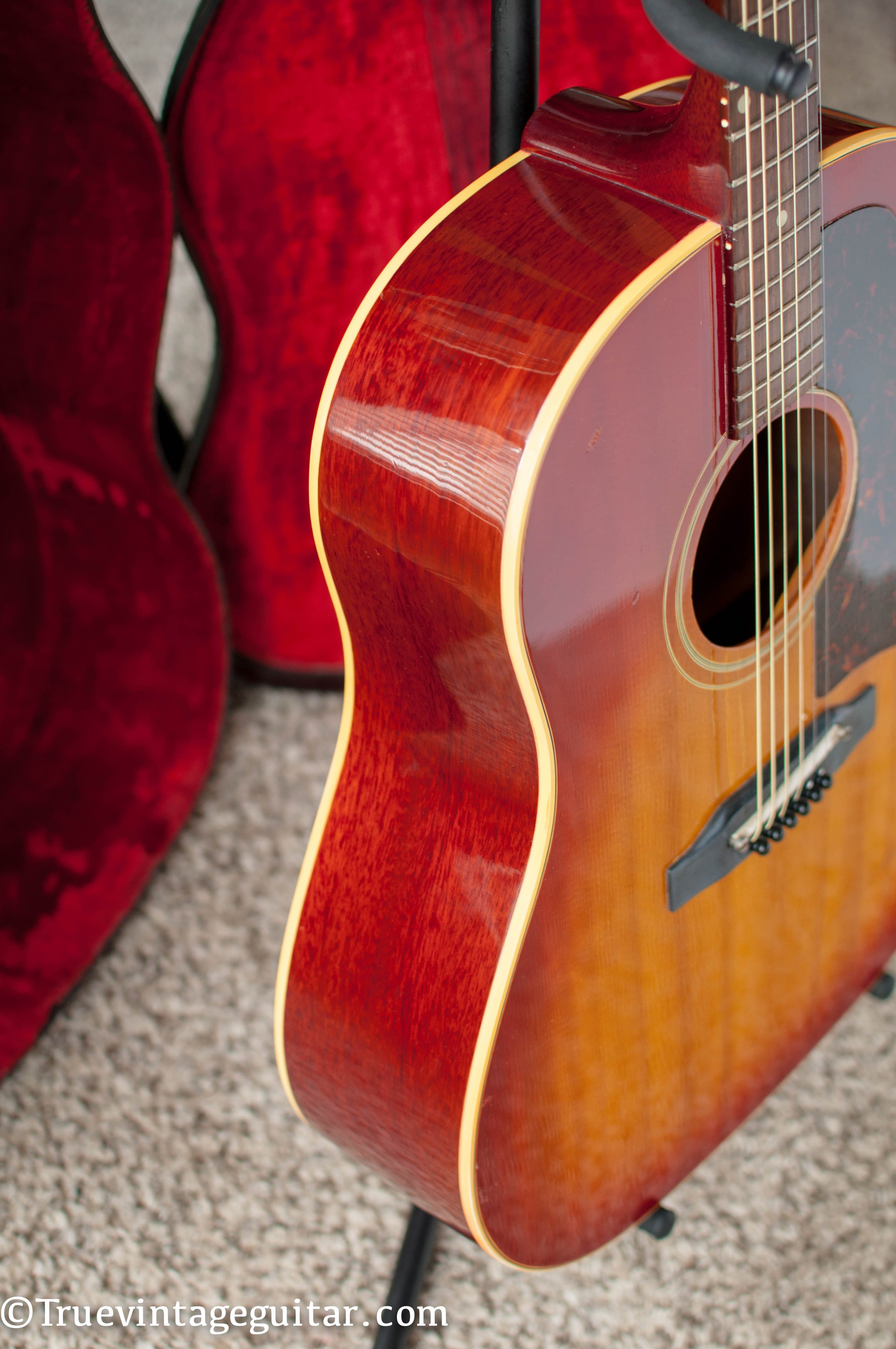 Red stained back and side Gibson J-45 1963