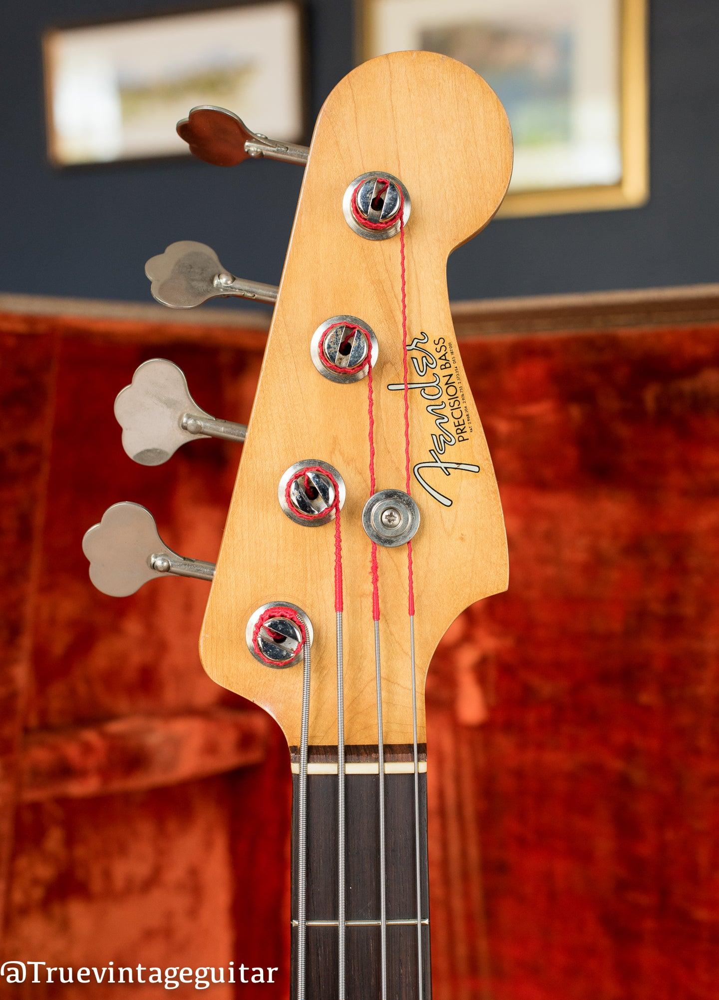 Headstock, Vintage 1963 Fender Precision Bass, P Bass