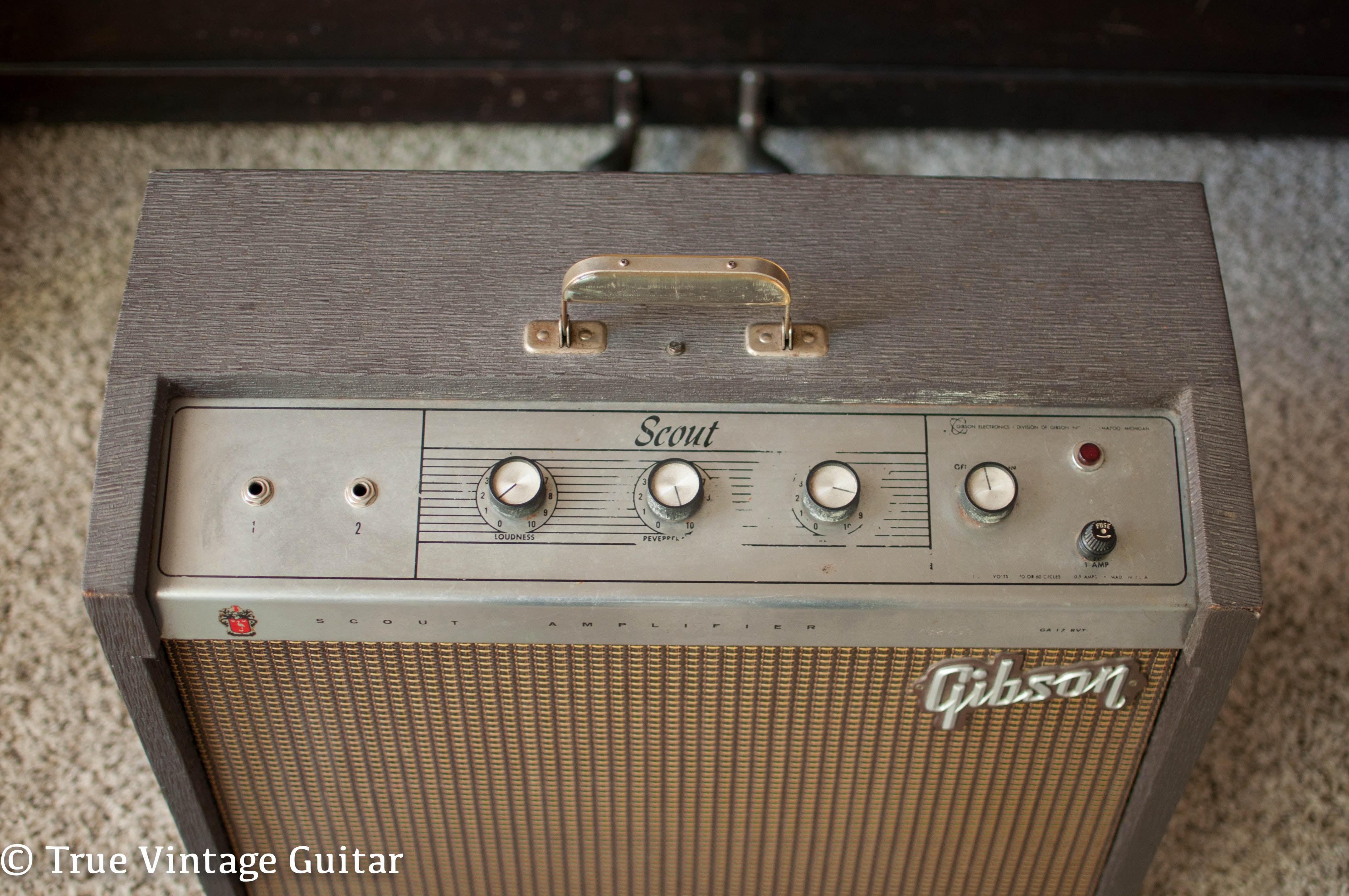 Vintage 1964 Gibson guitar amp Scout