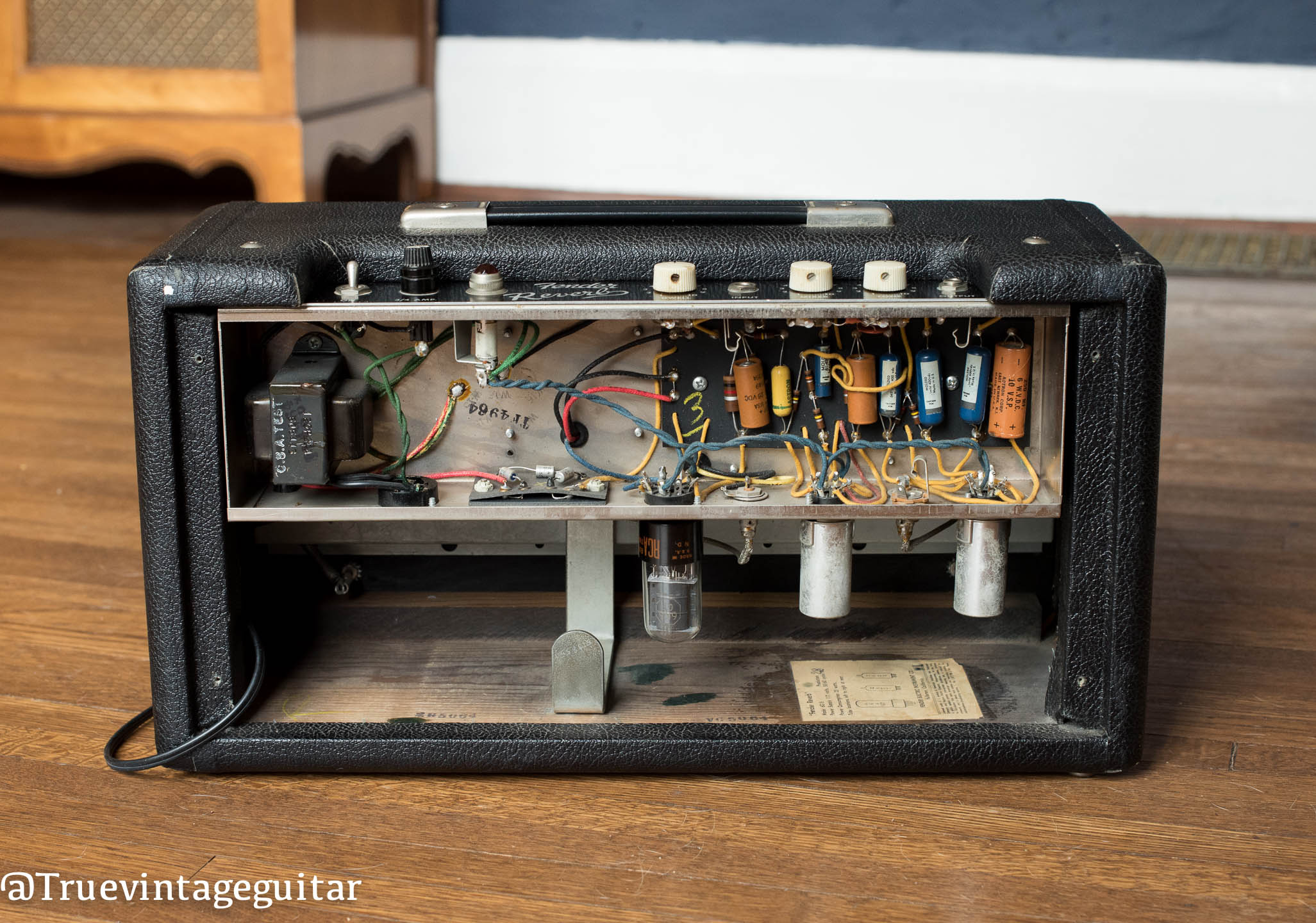 1964 Fender Reverb chassis, circuit, 1964
