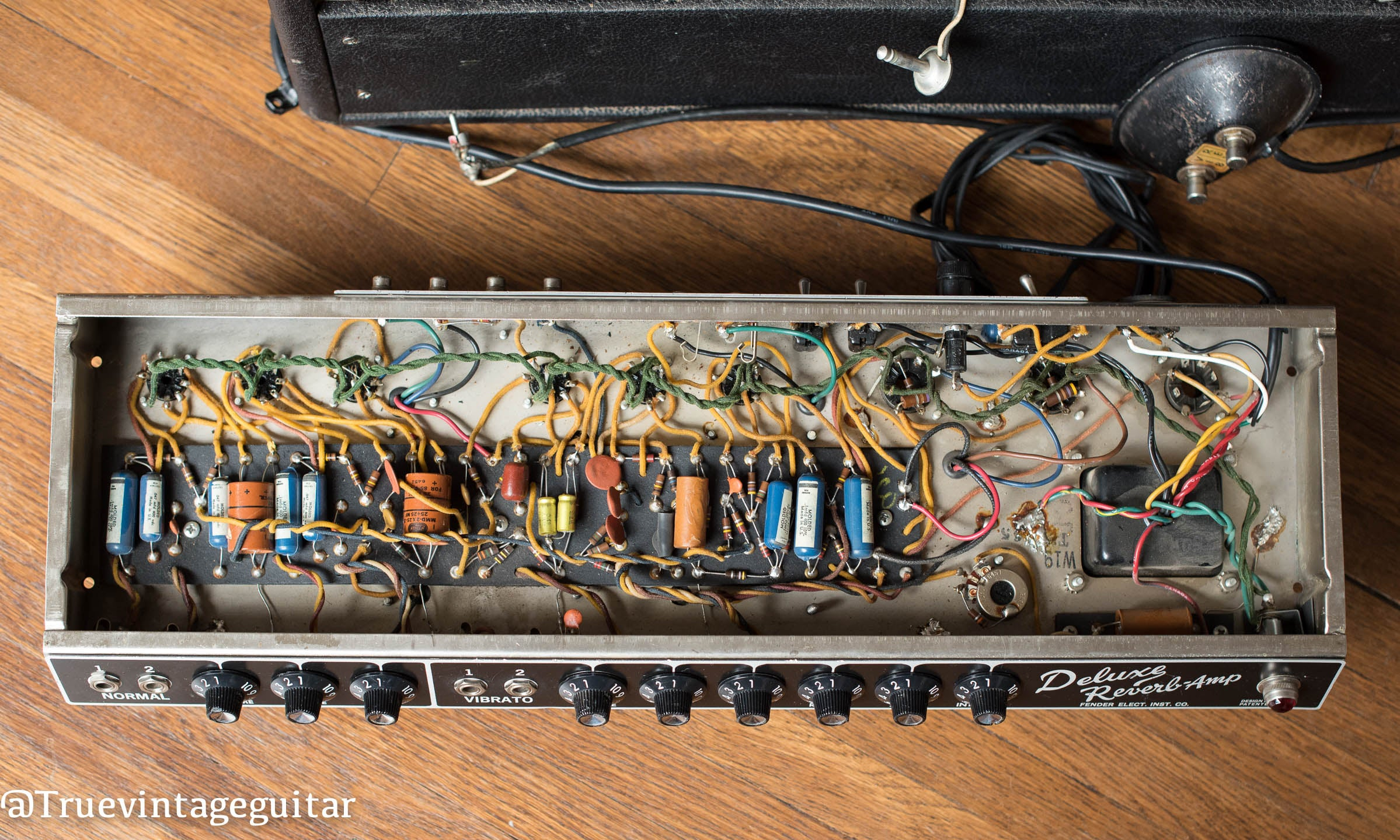 1965 Fender Deluxe Reverb amp, chassis