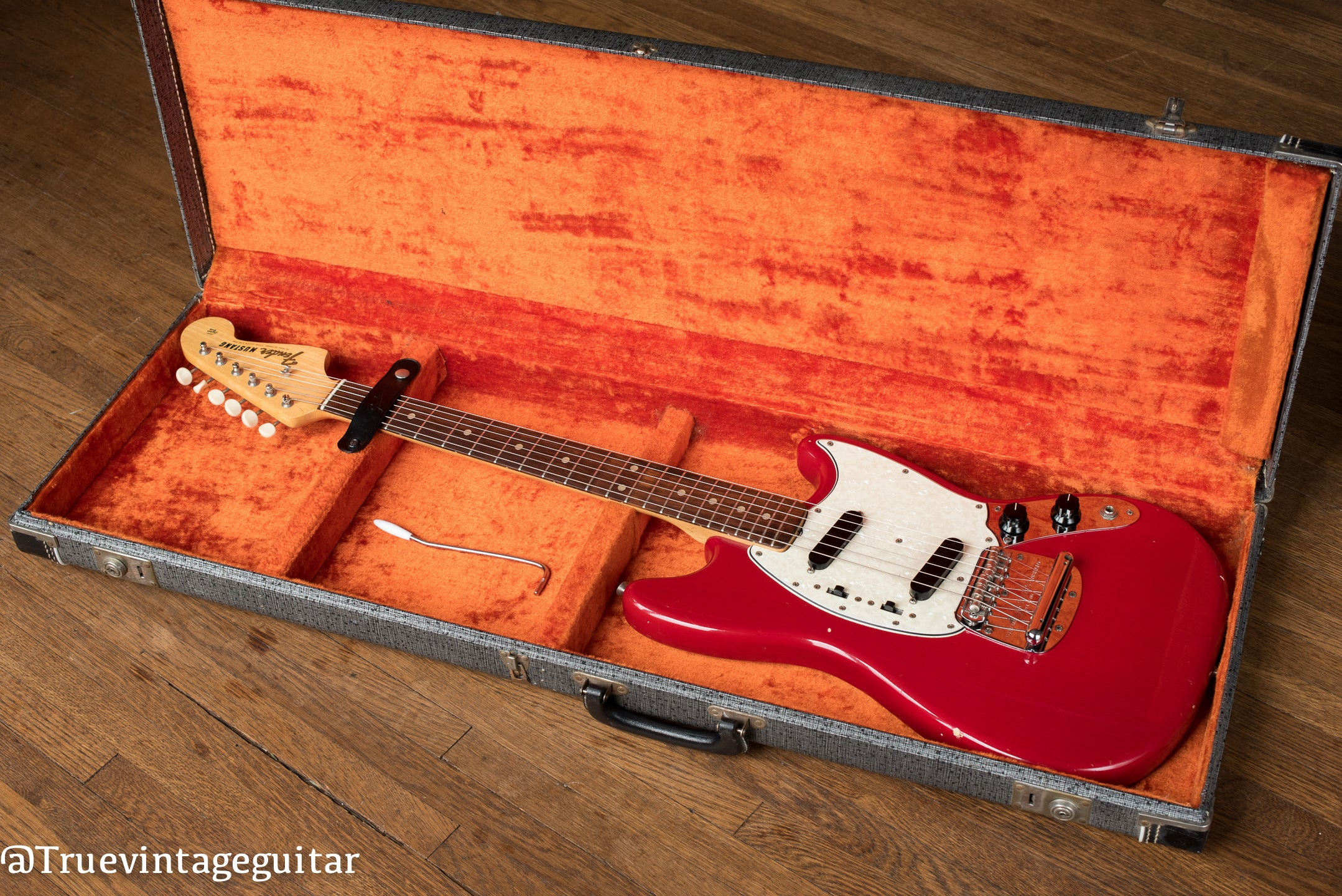 1960s Fender guitar red