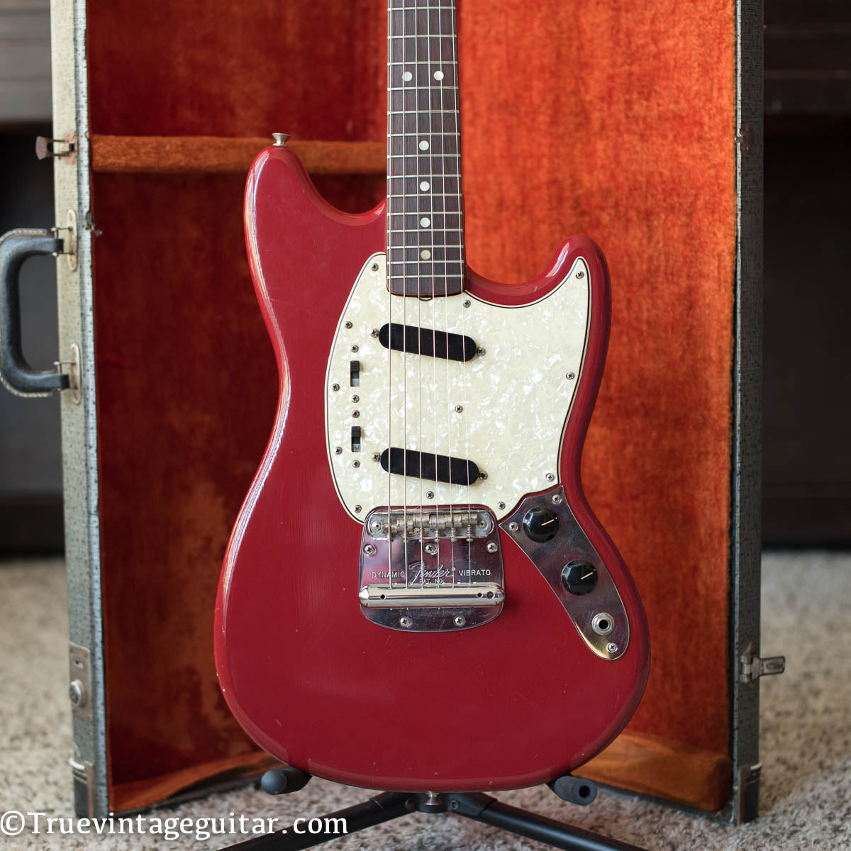 Fender Mustang guitar Red vintage 1960s