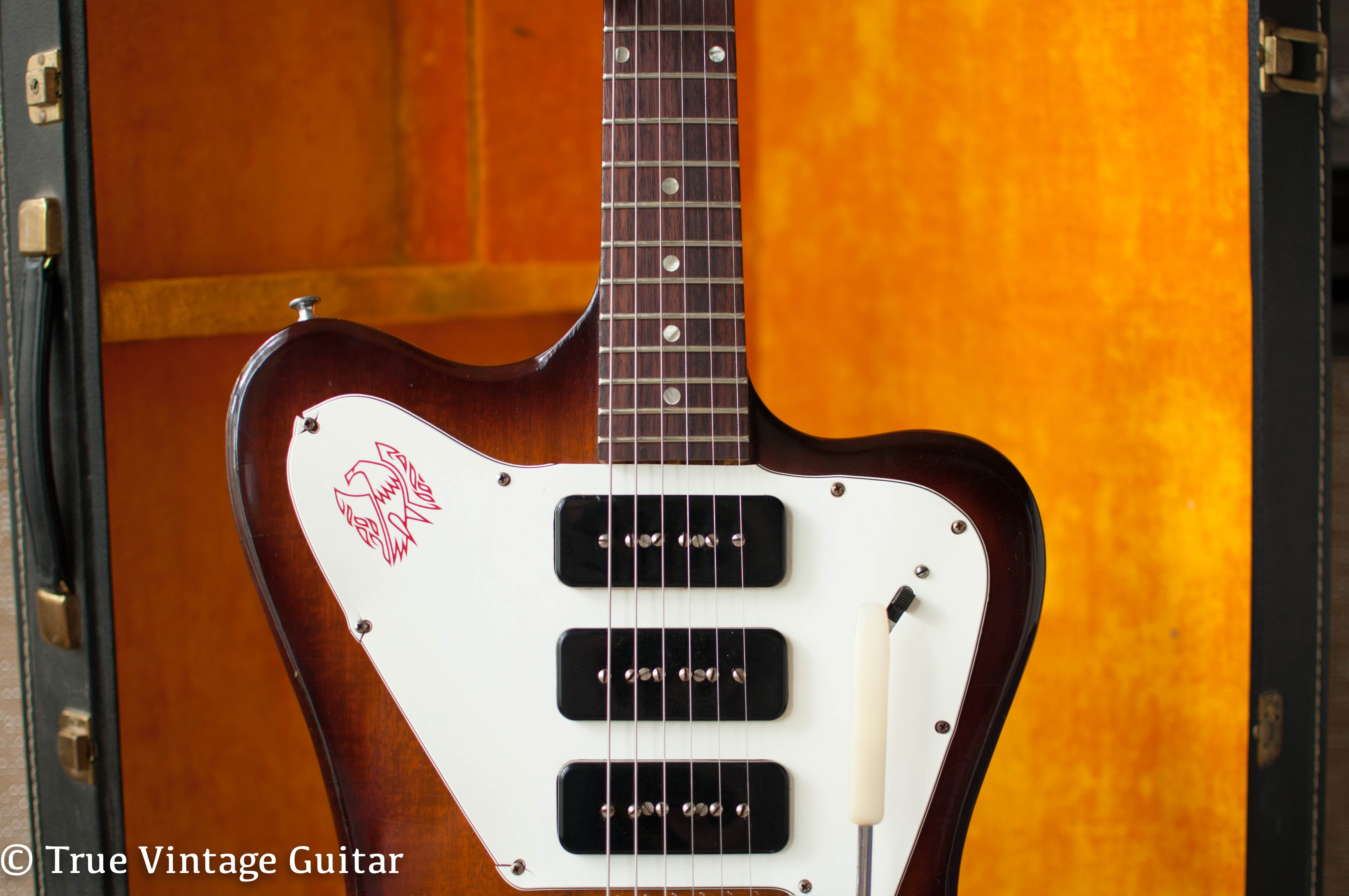 red Firebird pickguard 1966 Gibson