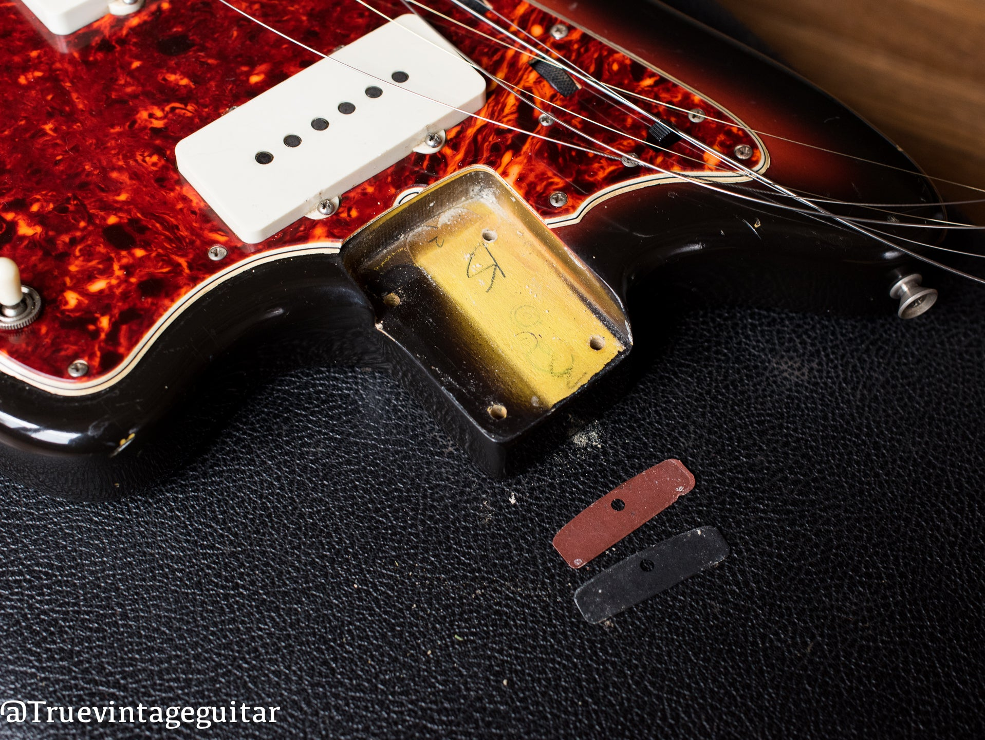 Vintage 1966 Fender Jazzmaster neck pocket original finish
