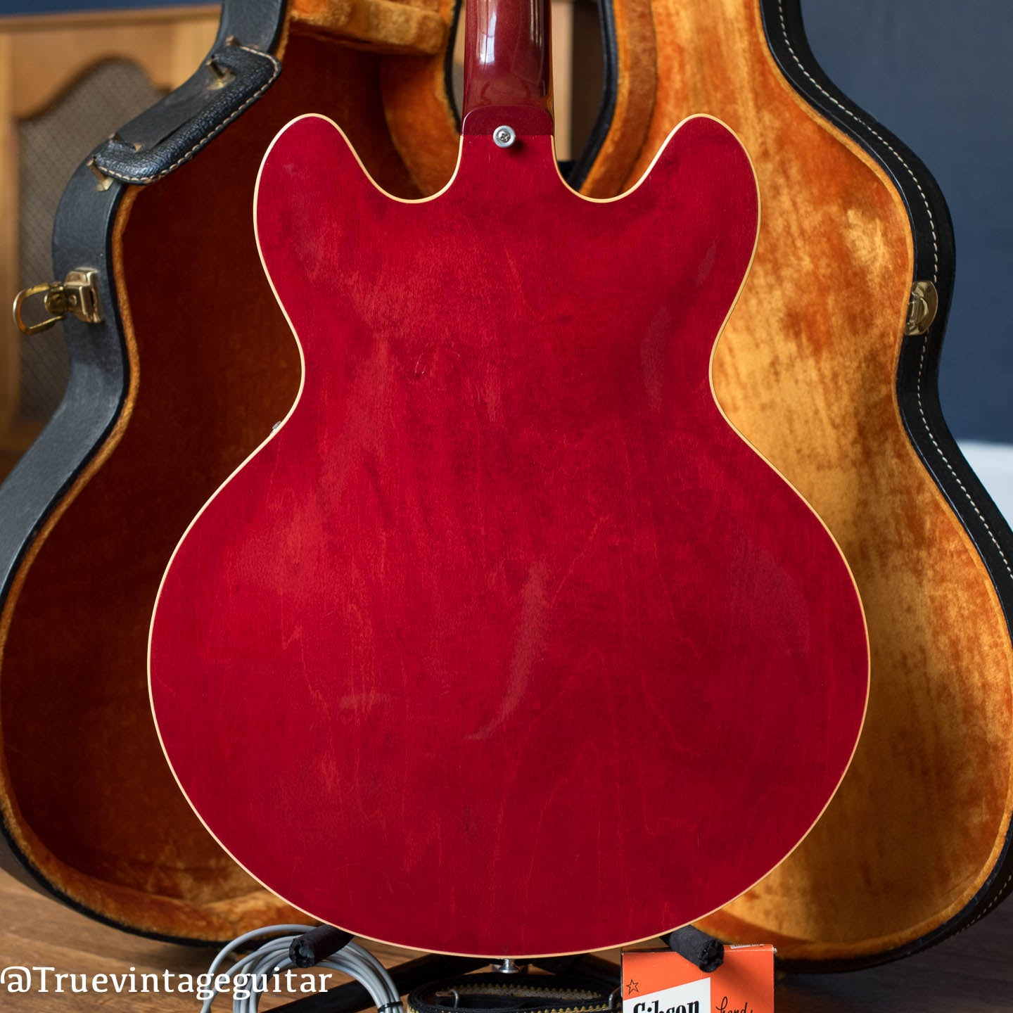 Red vintage Gibson guitar