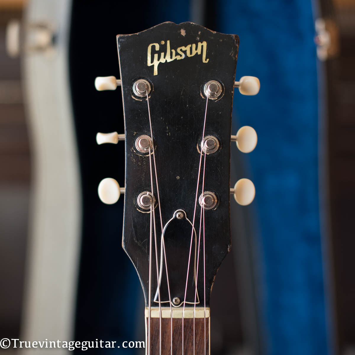 headstock, Gibson ES-330 1967, pearl inlay