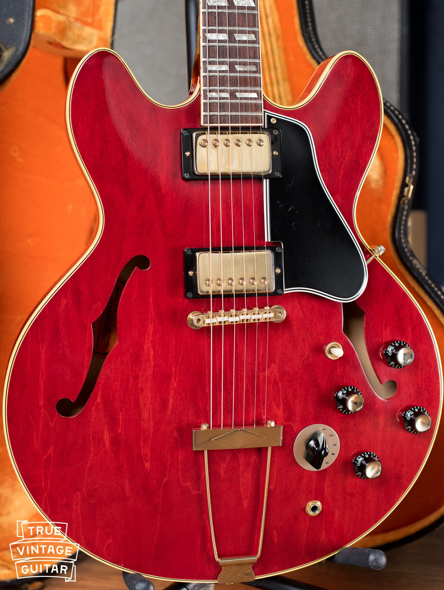 vintage Gibson ES-345 TDC Cherry electric guitar Stereo