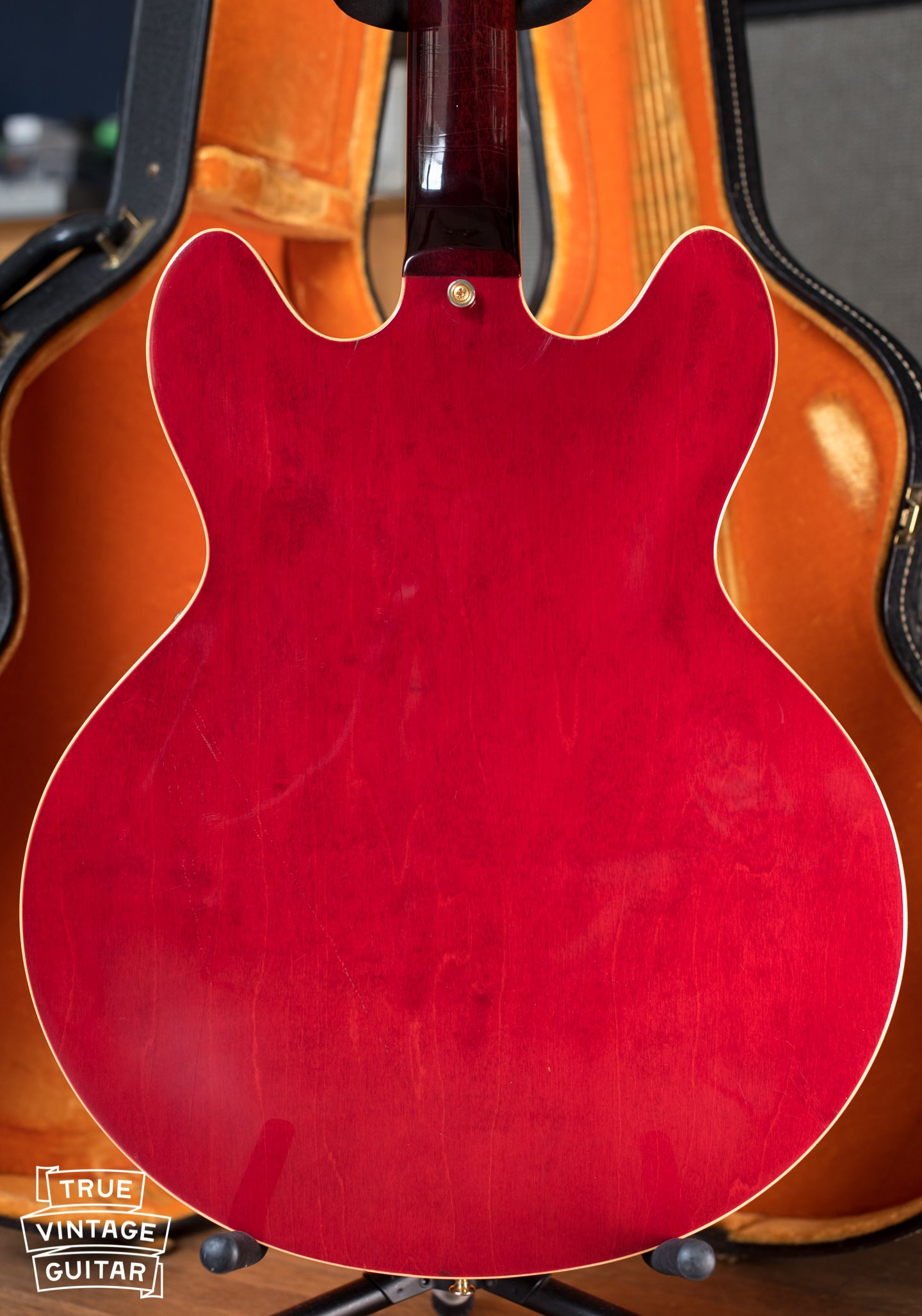 back of vintage Gibson ES-345 TDC Cherry electric guitar Stereo