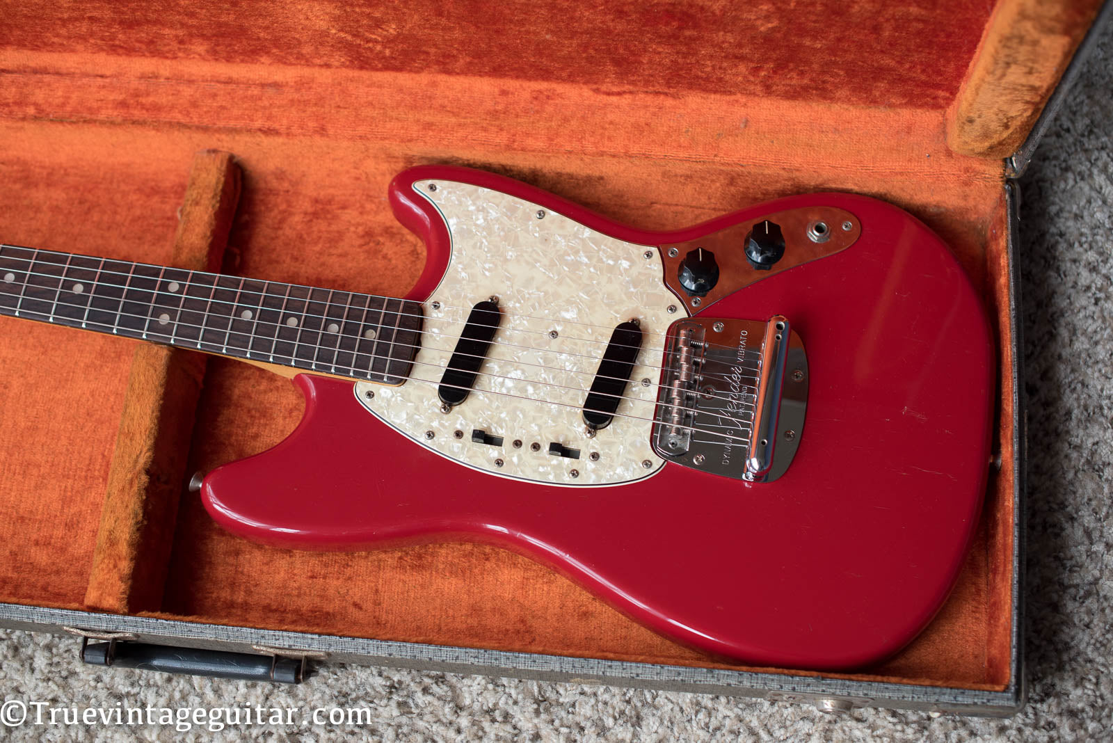 Fender Mustang electric guitar red