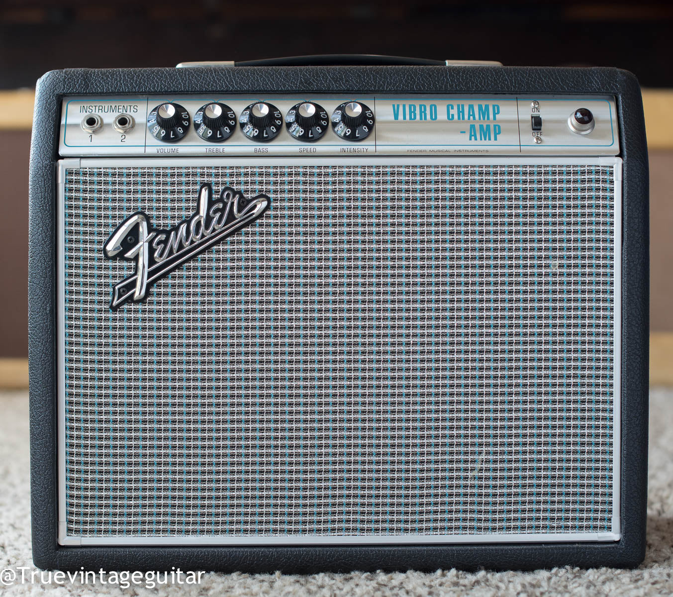 1968 Fender Vibro Champ guitar amplifier drip edge